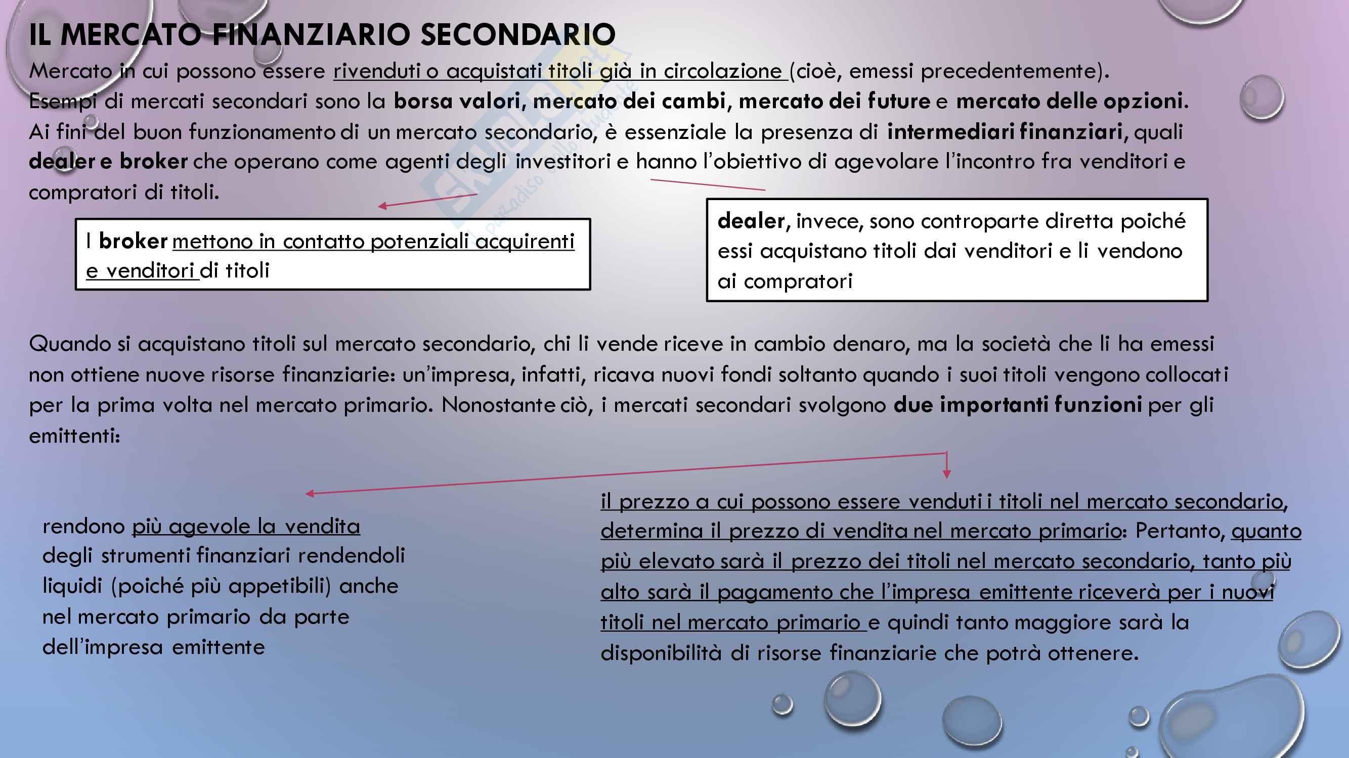 Appunti esame Intermediari finanziari, Prof De Sury Pag. 2