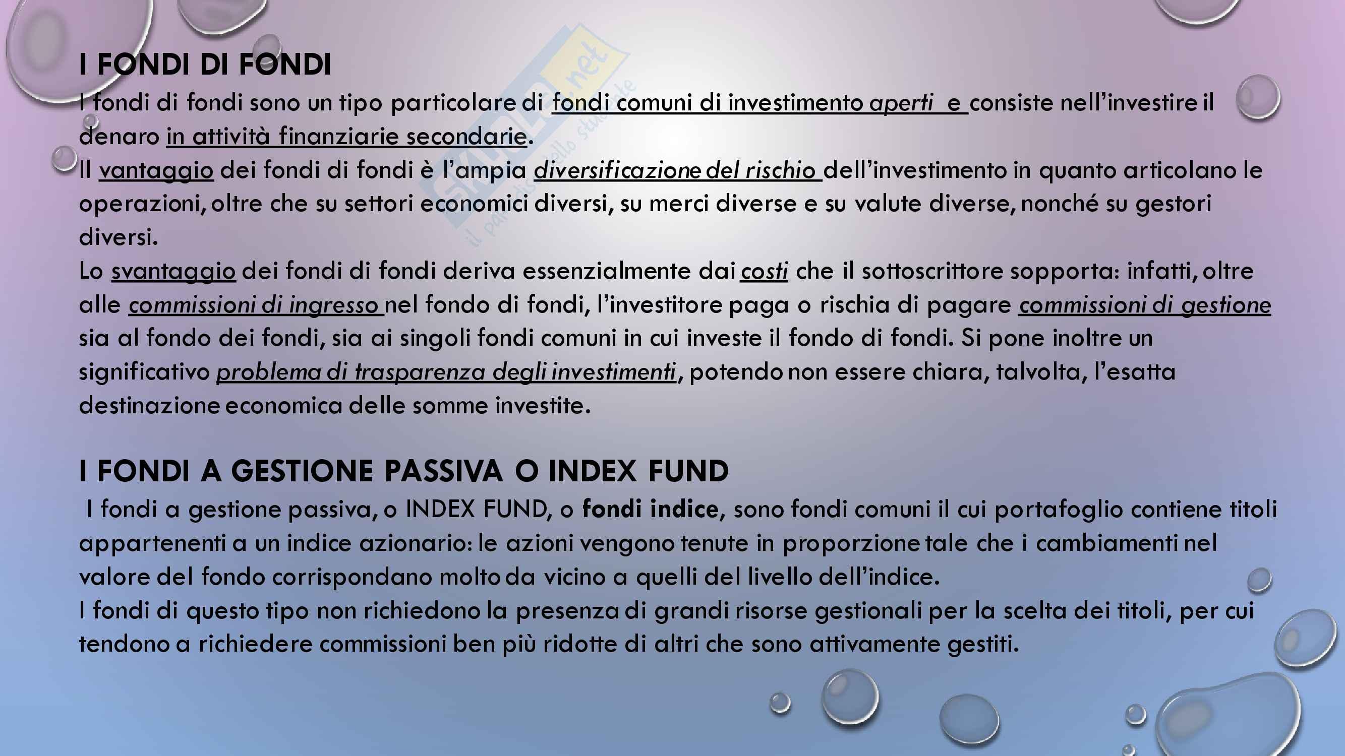 Appunti esame Intermediari finanziari, Prof De Sury Pag. 66