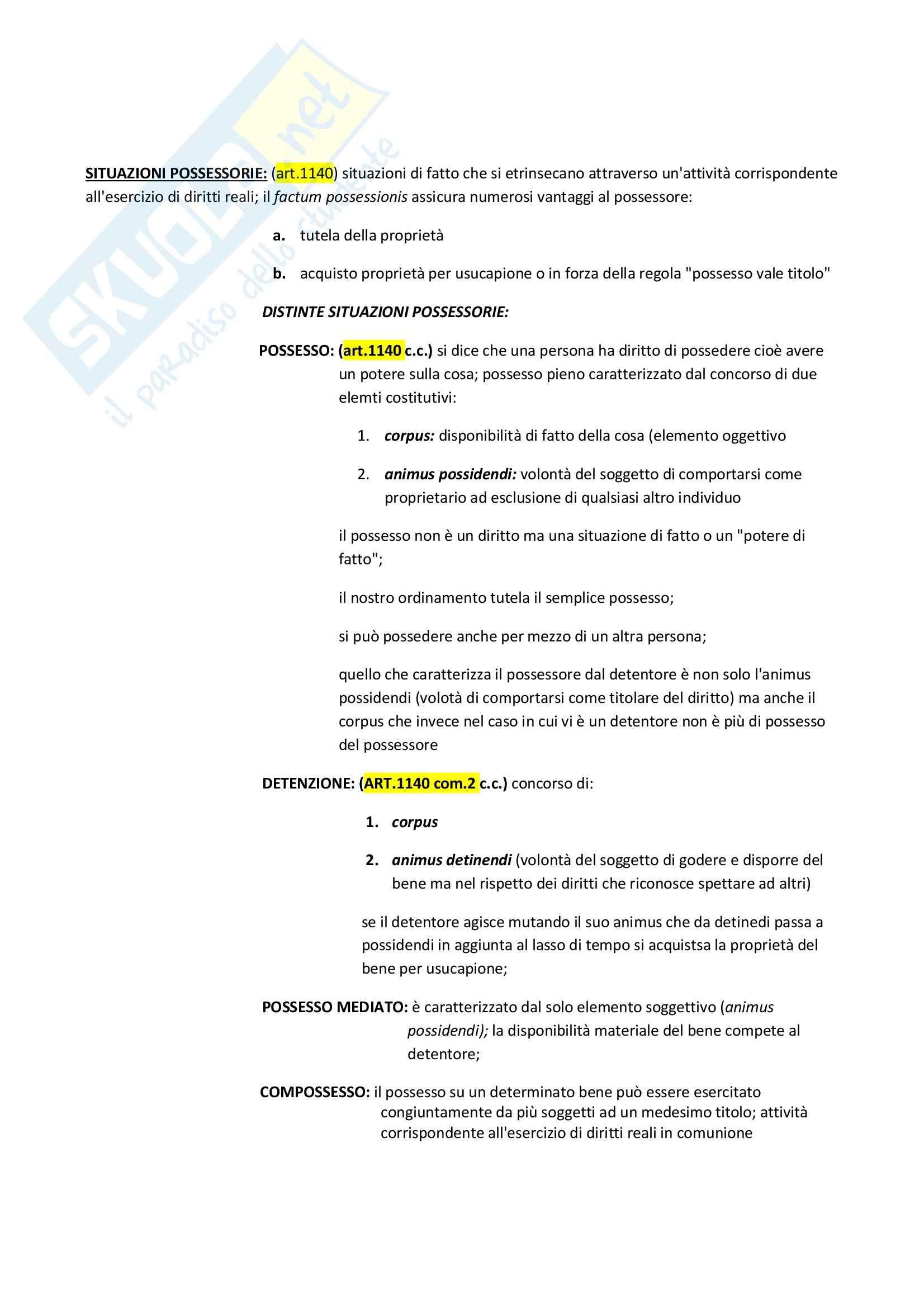 Proprietà e diritti reali di godimento, Diritto privato Pag. 21