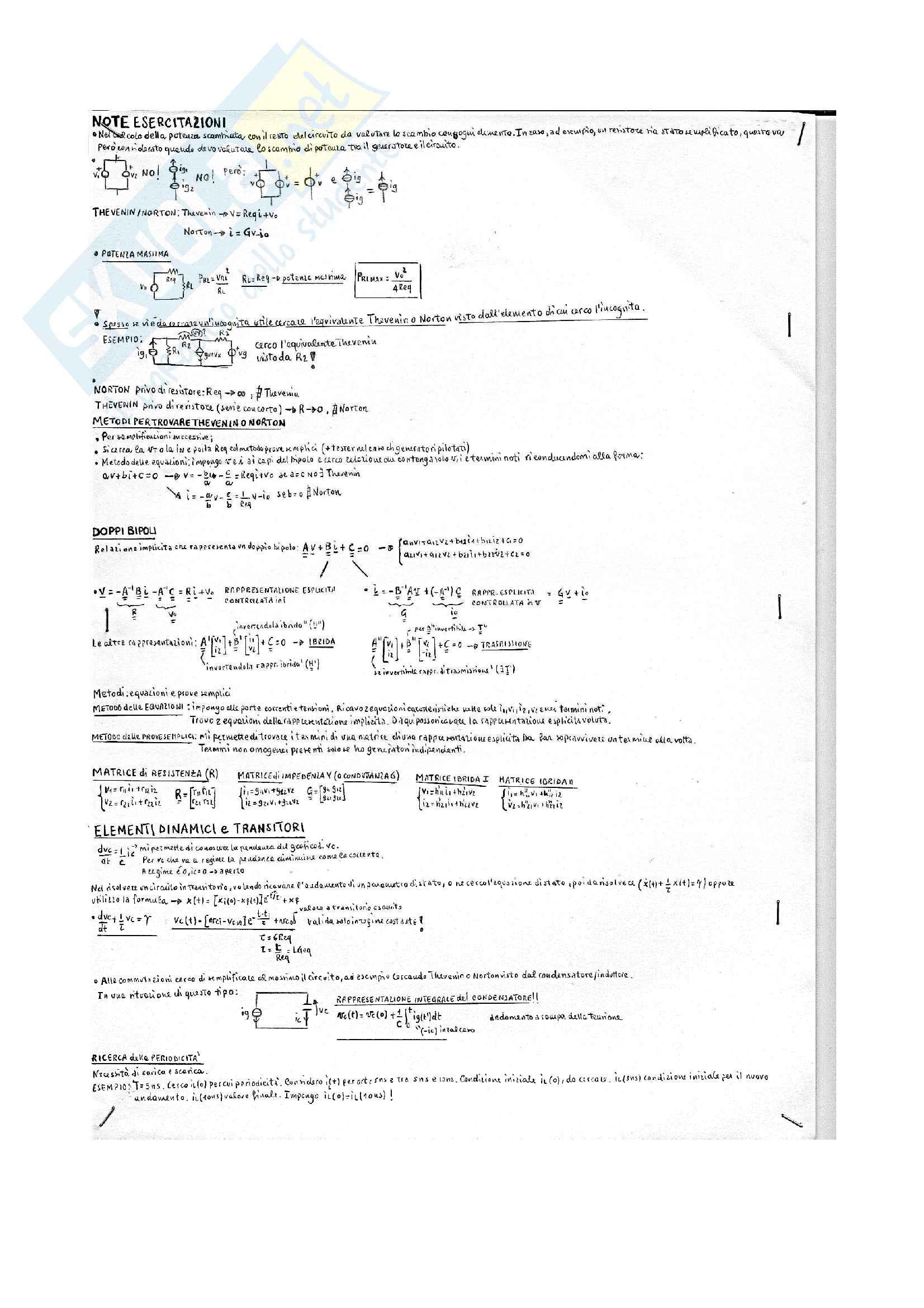 Elettrotecnica: formulario