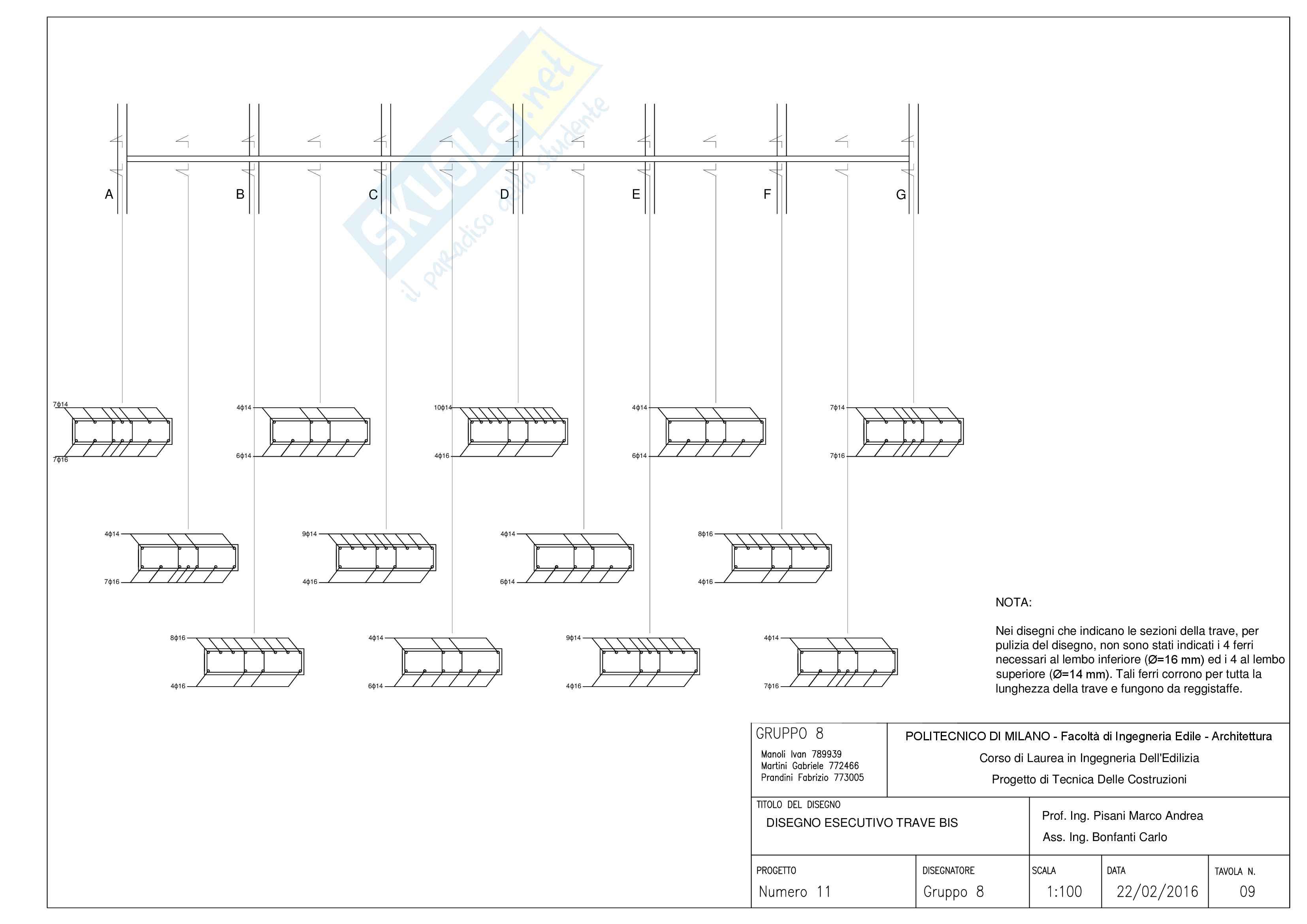 Tecnica delle Costruzioni - Progetto (Martini) Pag. 106