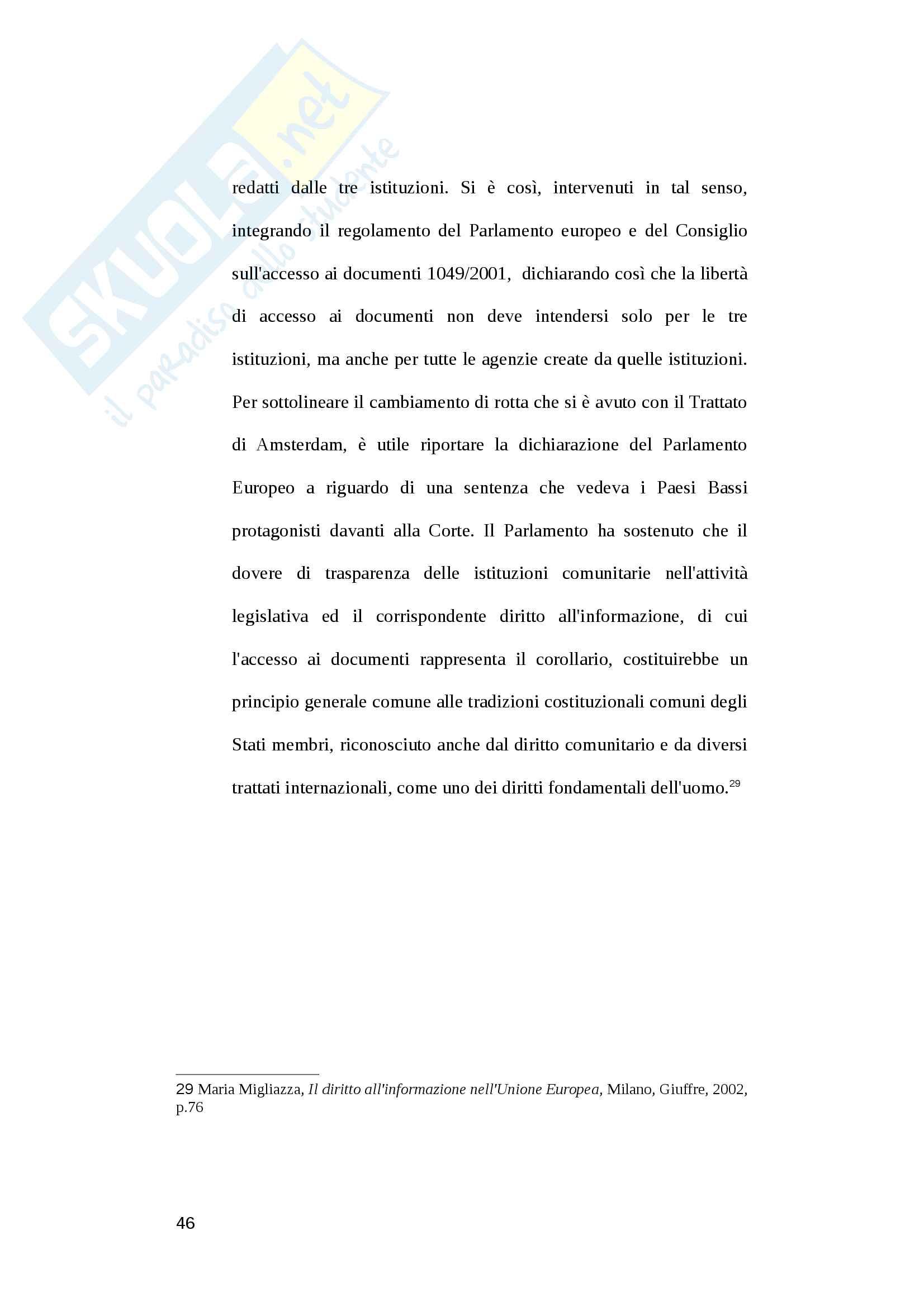 L'inquadramento costituzionale dell'informazione reticolare Pag. 46
