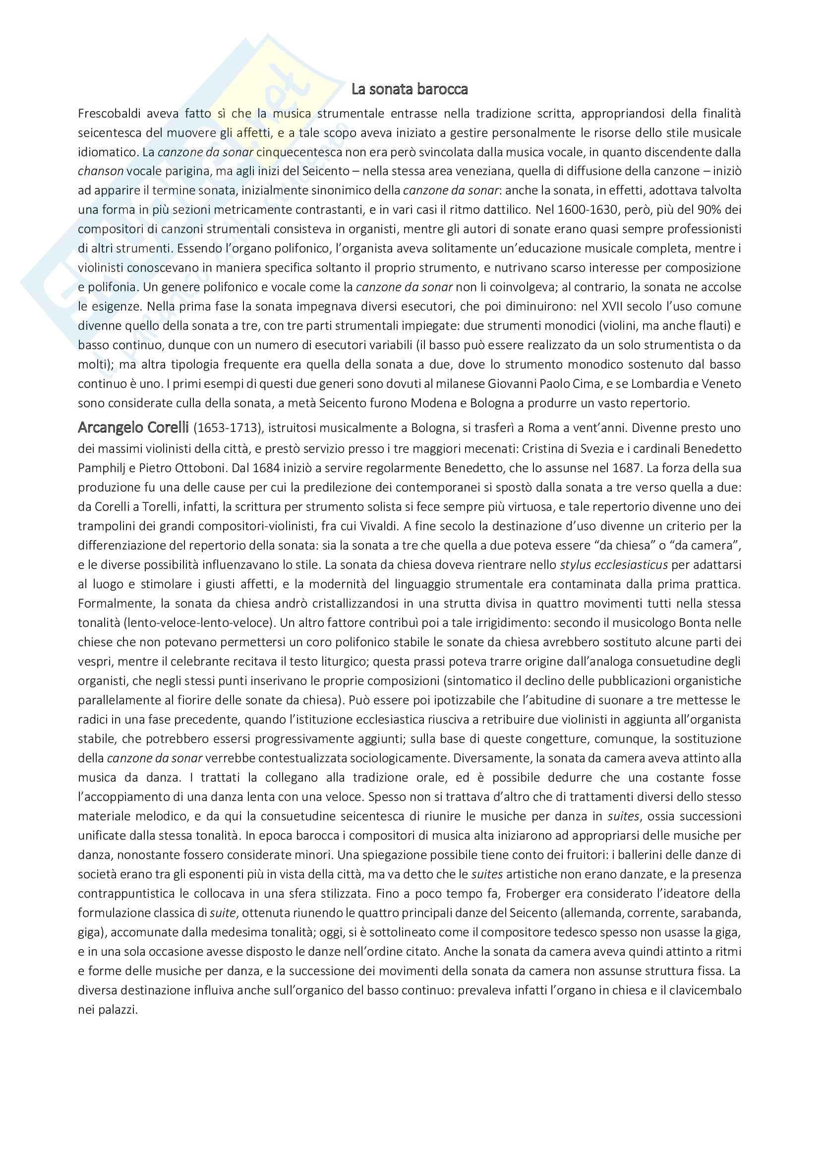 """Riassunto di storia della musica, prof. Ignazio Macchiarella, libro consigliato """"Storia della musica occidentale vol. II"""" di Mario Carrozzo, Cristina Cimagalli Pag. 6"""