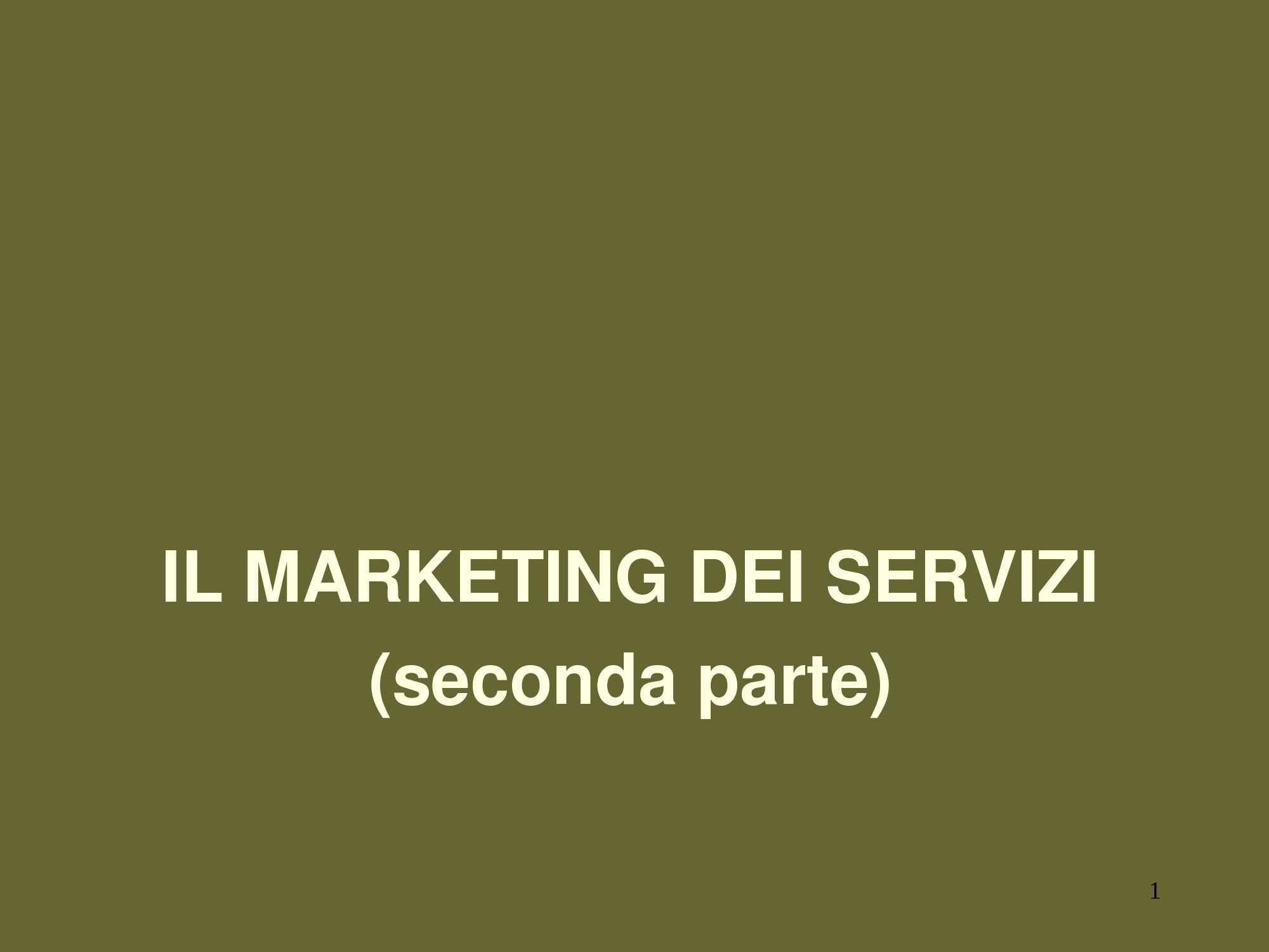 Marketing dei servizi: qualità e customer satisfaction
