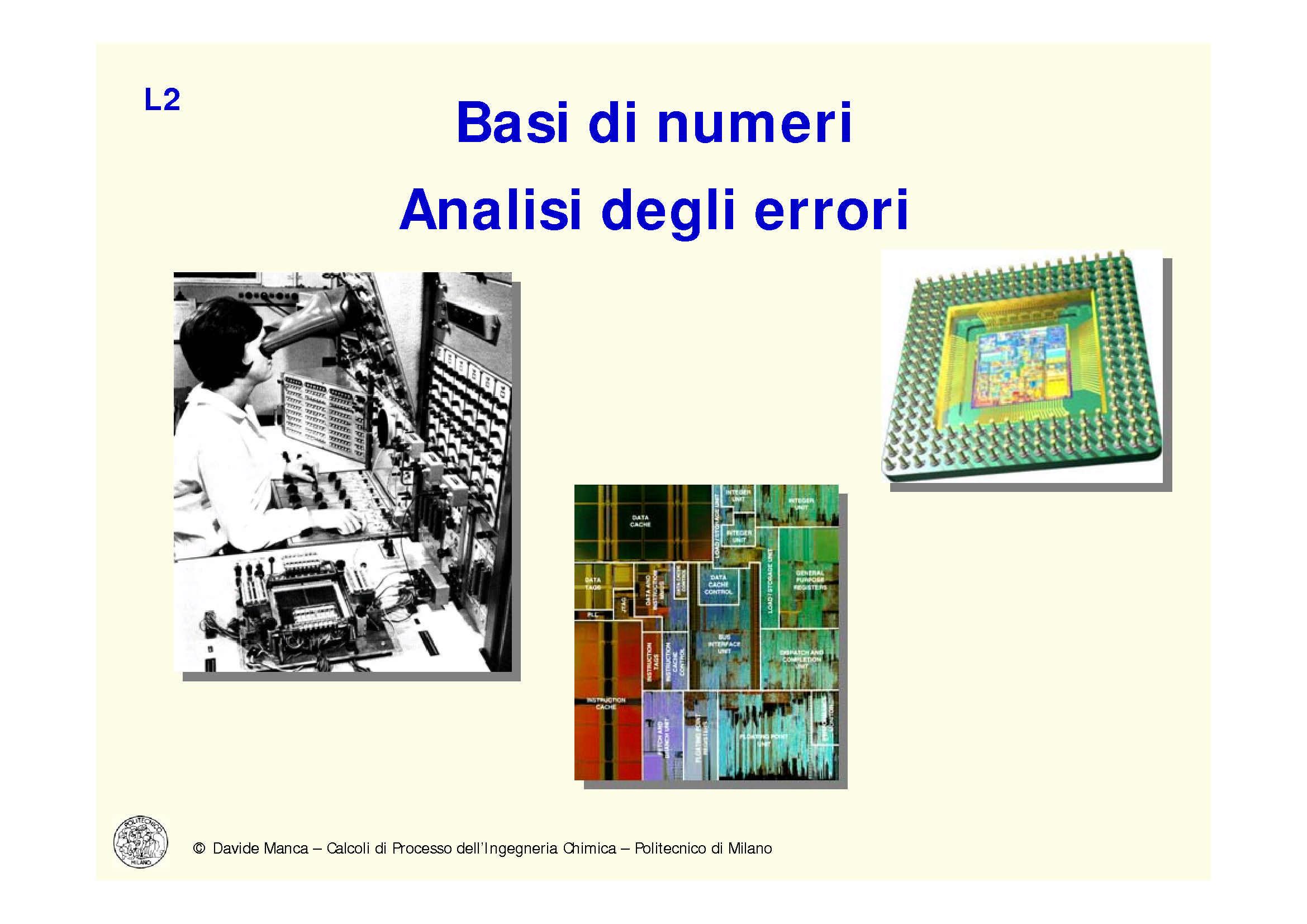 Basi di numeri e analisi degli errori