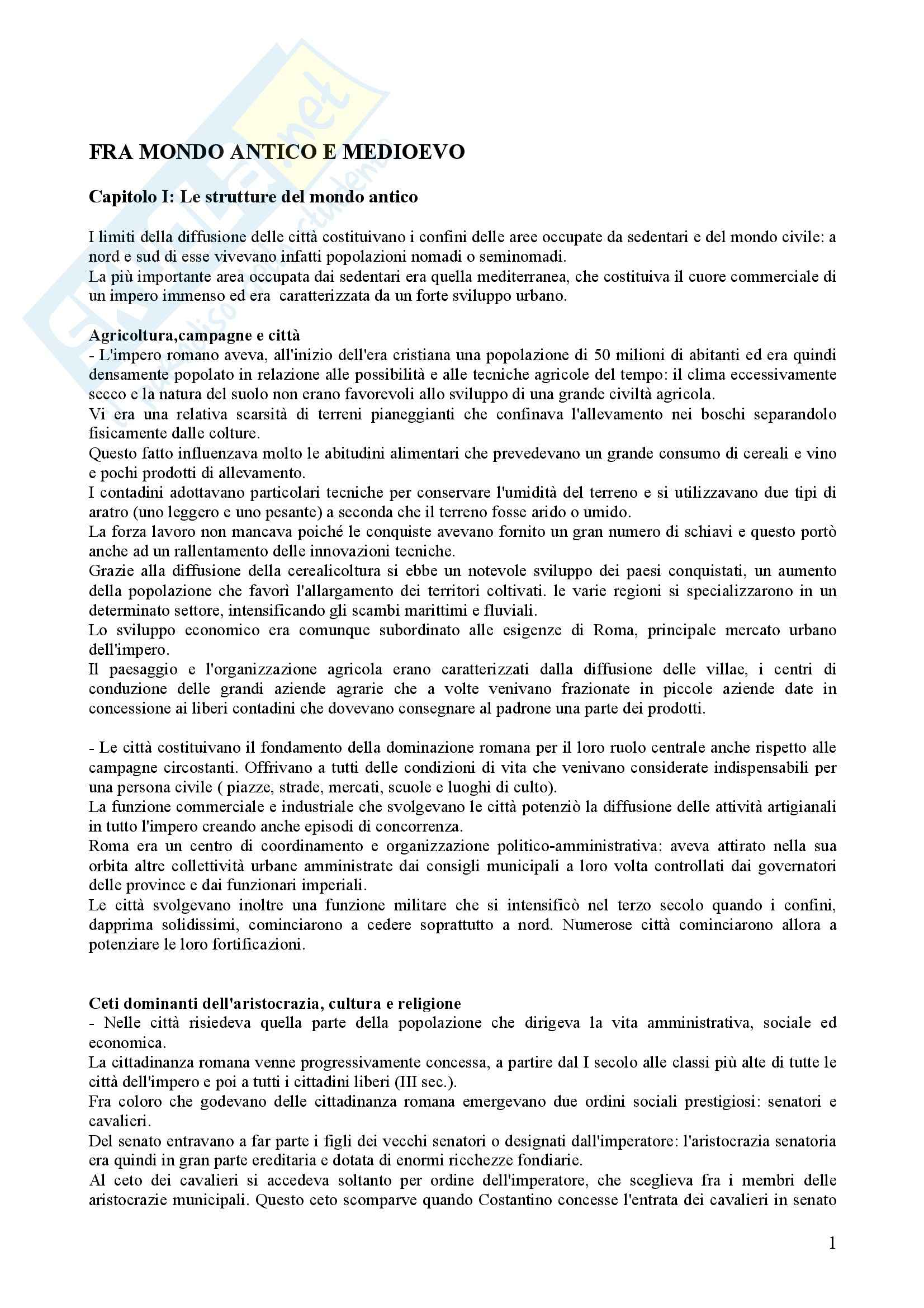 Riassunto esame Storia Medievale, prof. Comba, libro consigliato Storia Medievale, Comba