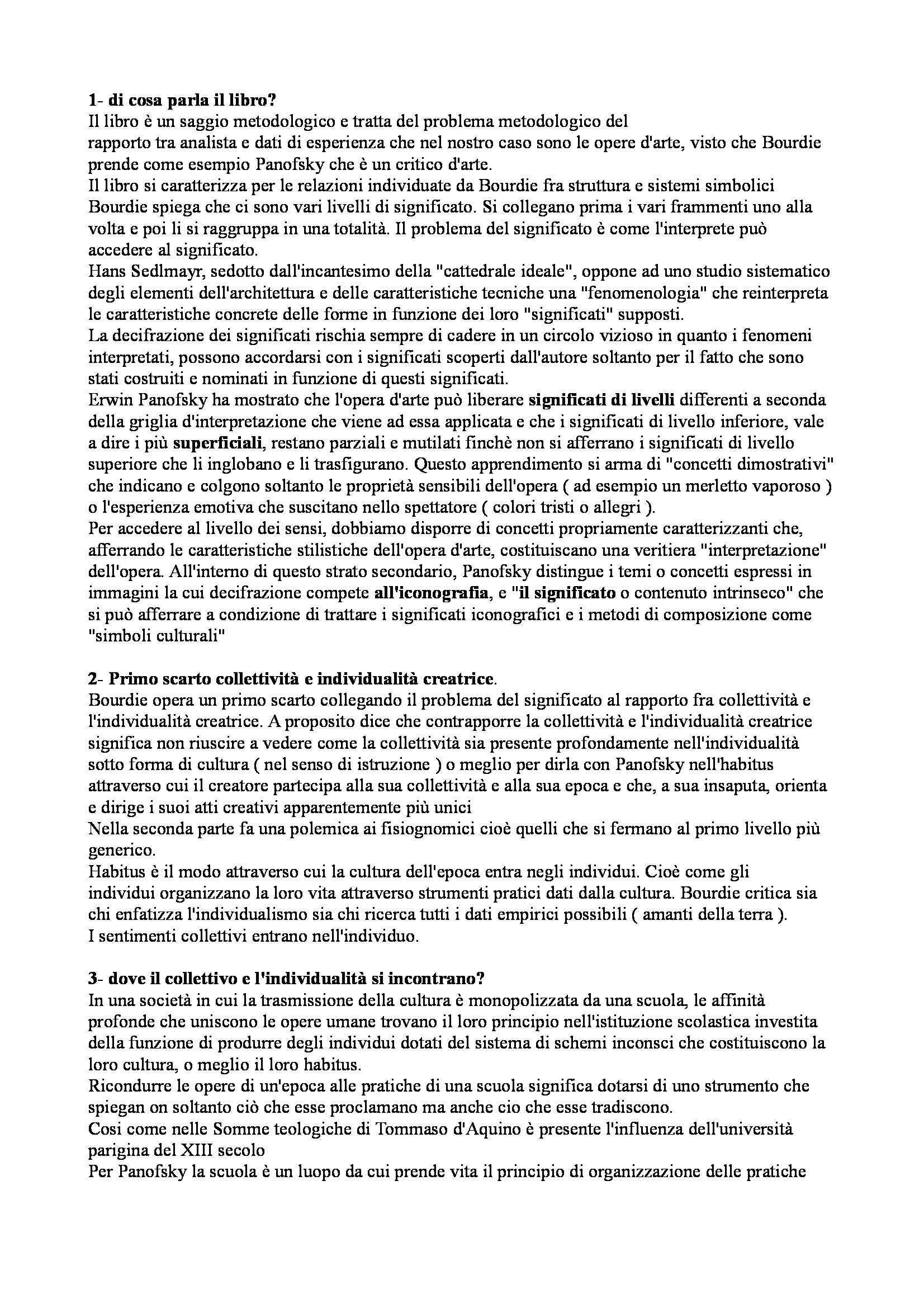 Fondamenti di scienze sociali - Il problema del significato nelle scienze strutturali, Bourdieu