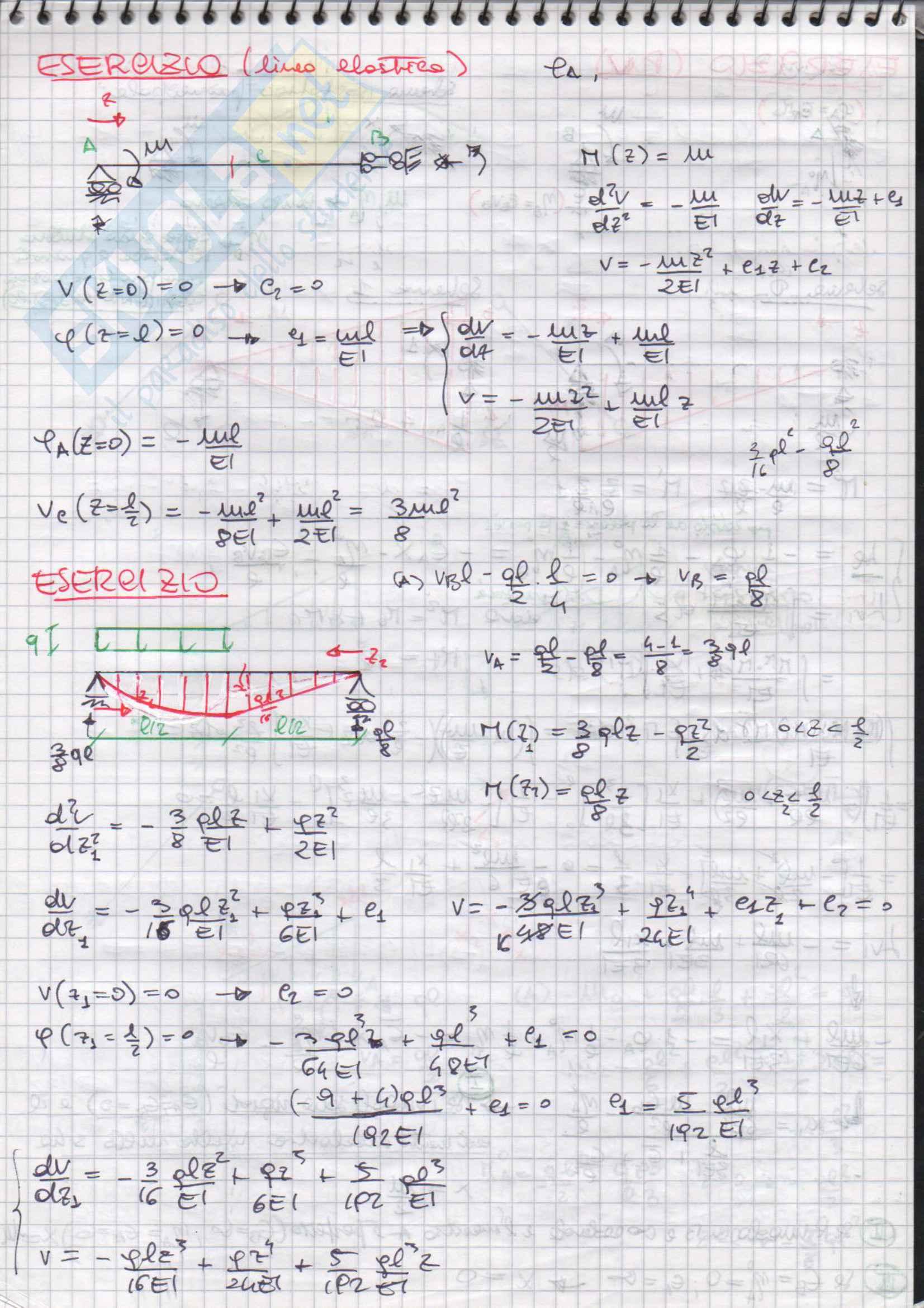 Esercizi svolti di Scienza delle Costruzioni Pag. 41