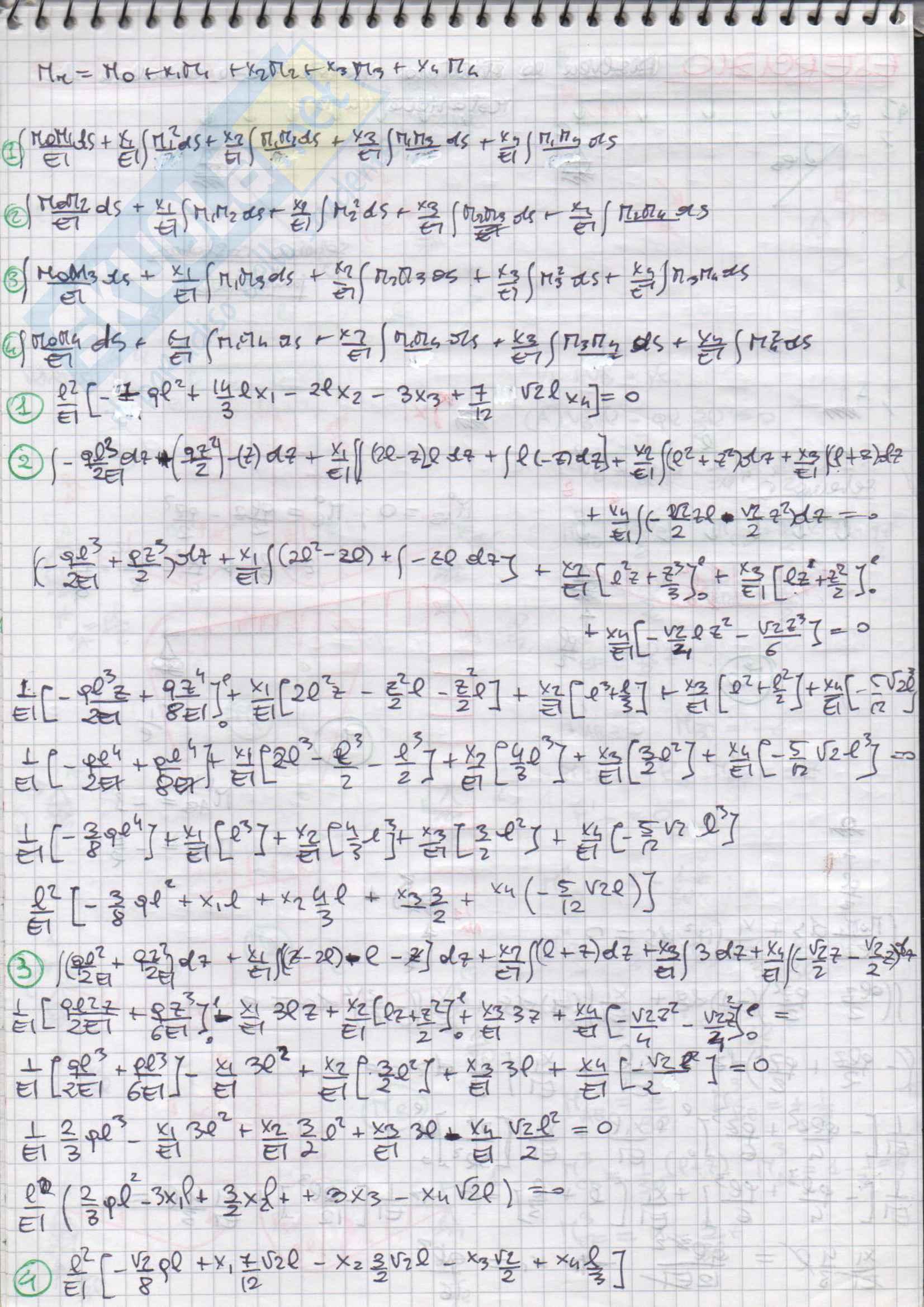 Esercizi svolti di Scienza delle Costruzioni Pag. 46