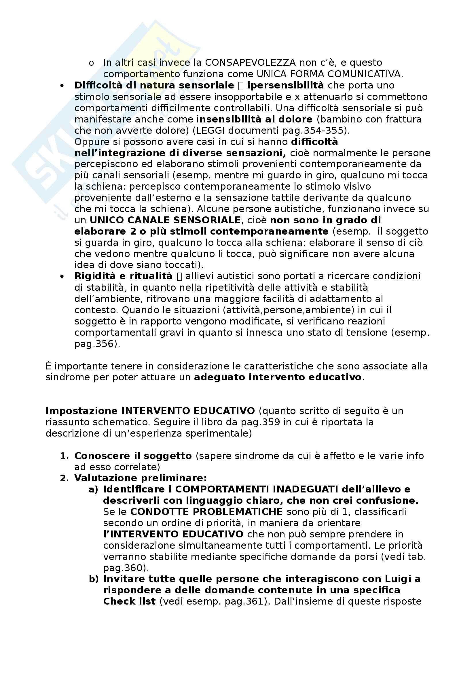 Riassunto esame Didattica e Pedagogia Speciale, prof. Cottini Pag. 31
