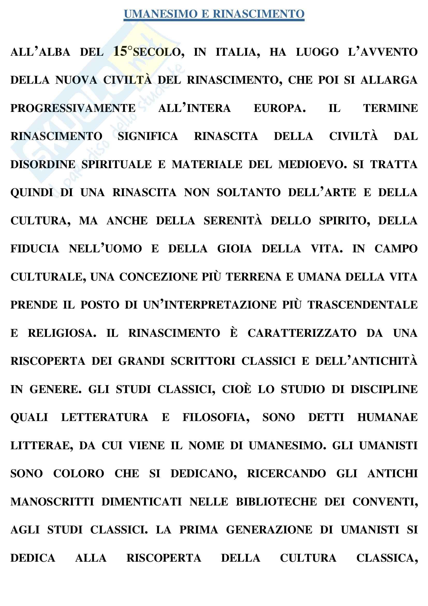 Riassunto esame Storia moderna, prof. Formigoni