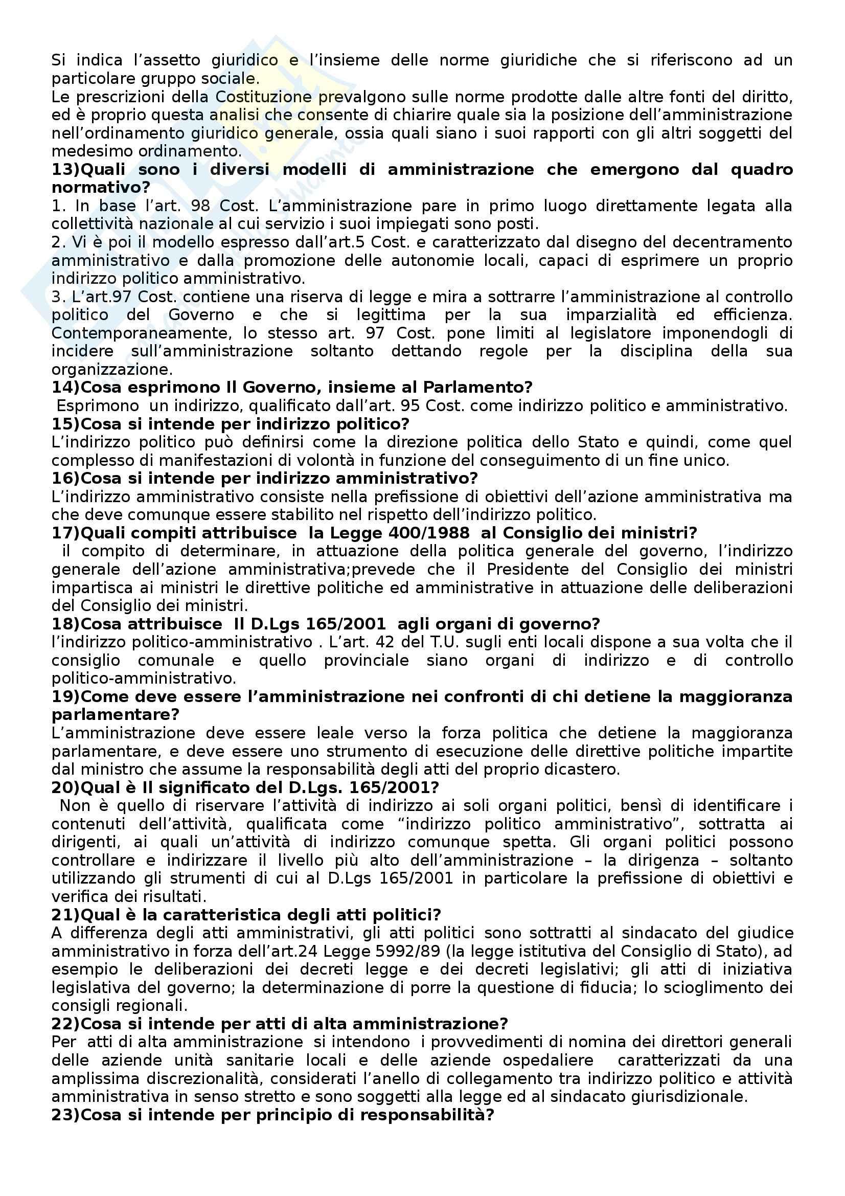 Diritto amministrativo - Domande Pag. 2
