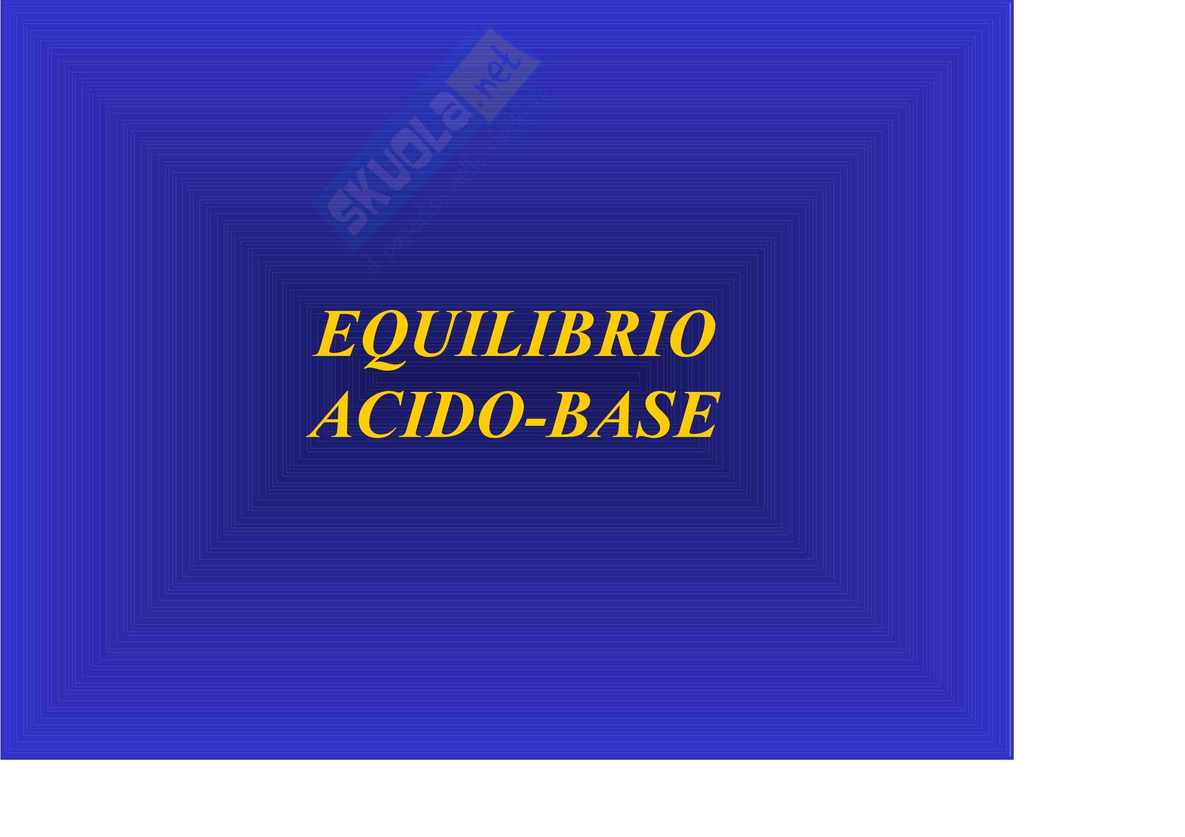 Nefrologia e urologia – Acido base Pag. 1