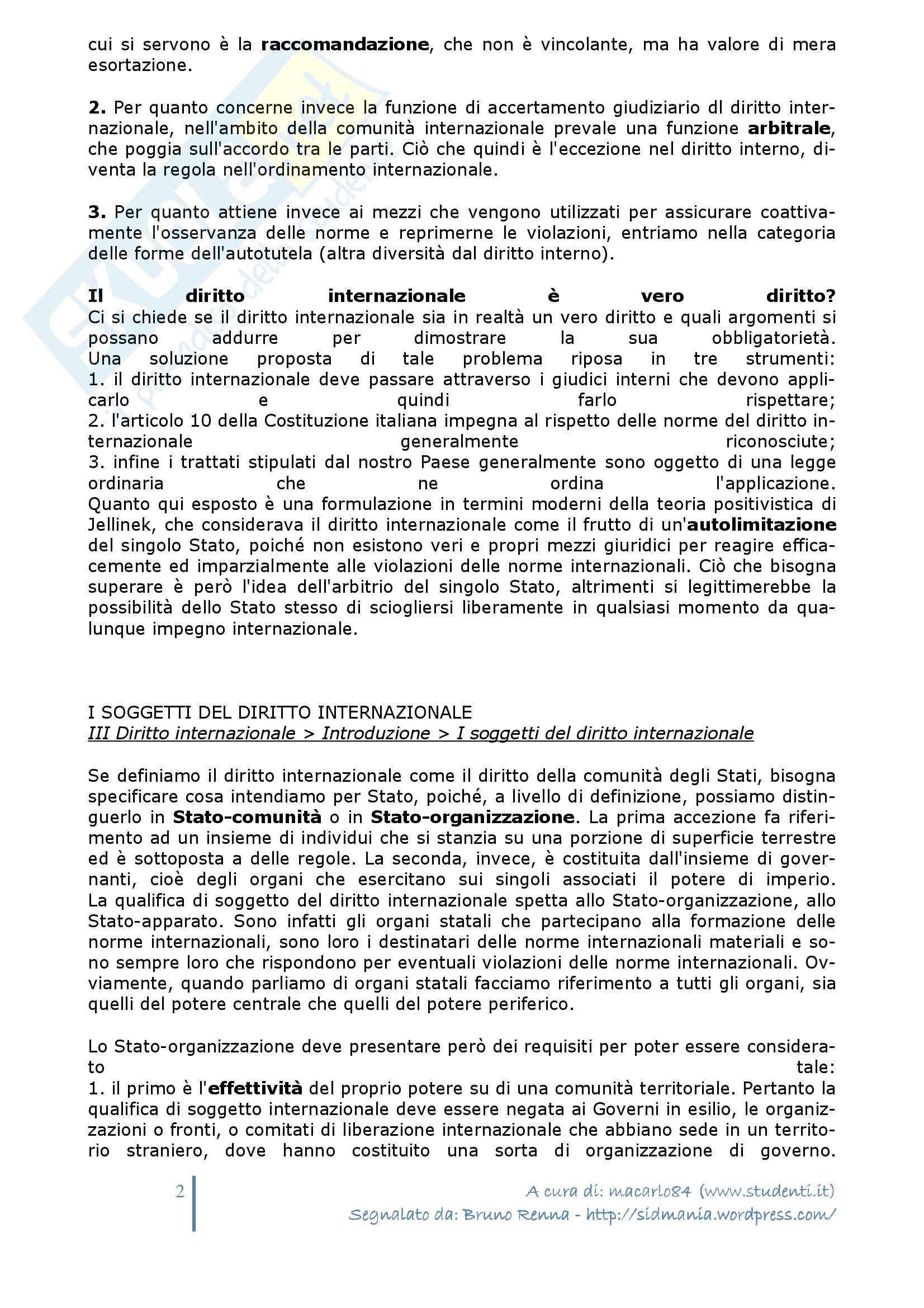 Riassunto esame Diritto Internazionale, prof. Balboni, libro consigliato Diritto Internazionale, Conforti Pag. 2