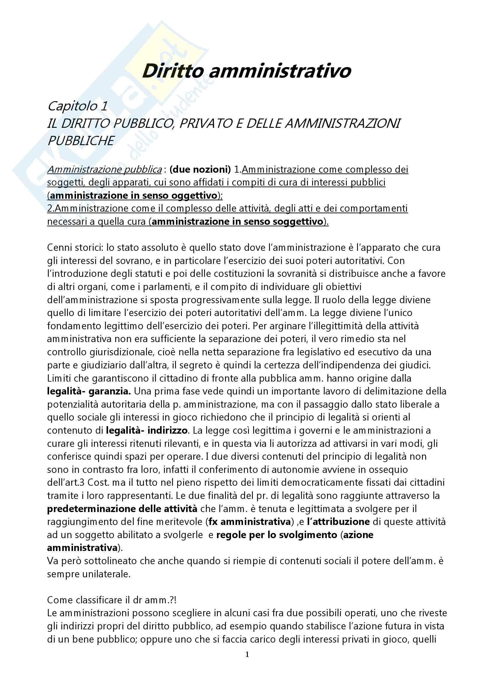 Riassunto esame Diritto Amministrativo, prof. indefinito, libro consigliato Istituzioni di Diritto Amministrativo, Merloni