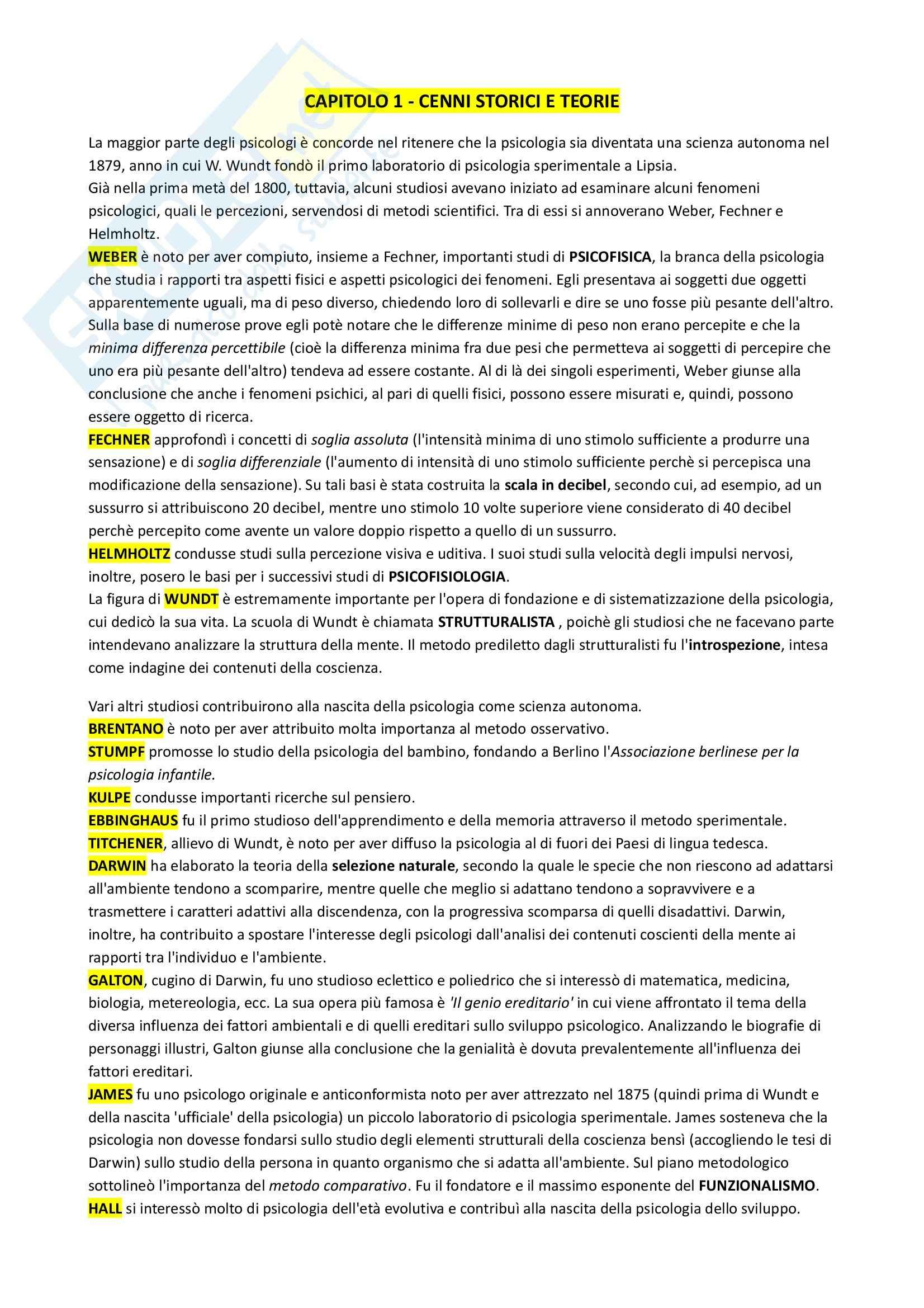 Riassunto esame Psicologia dello sviluppo, prof. De Caroli, libro consigliato Manuale di Psicologia dello sviluppo, Vianello