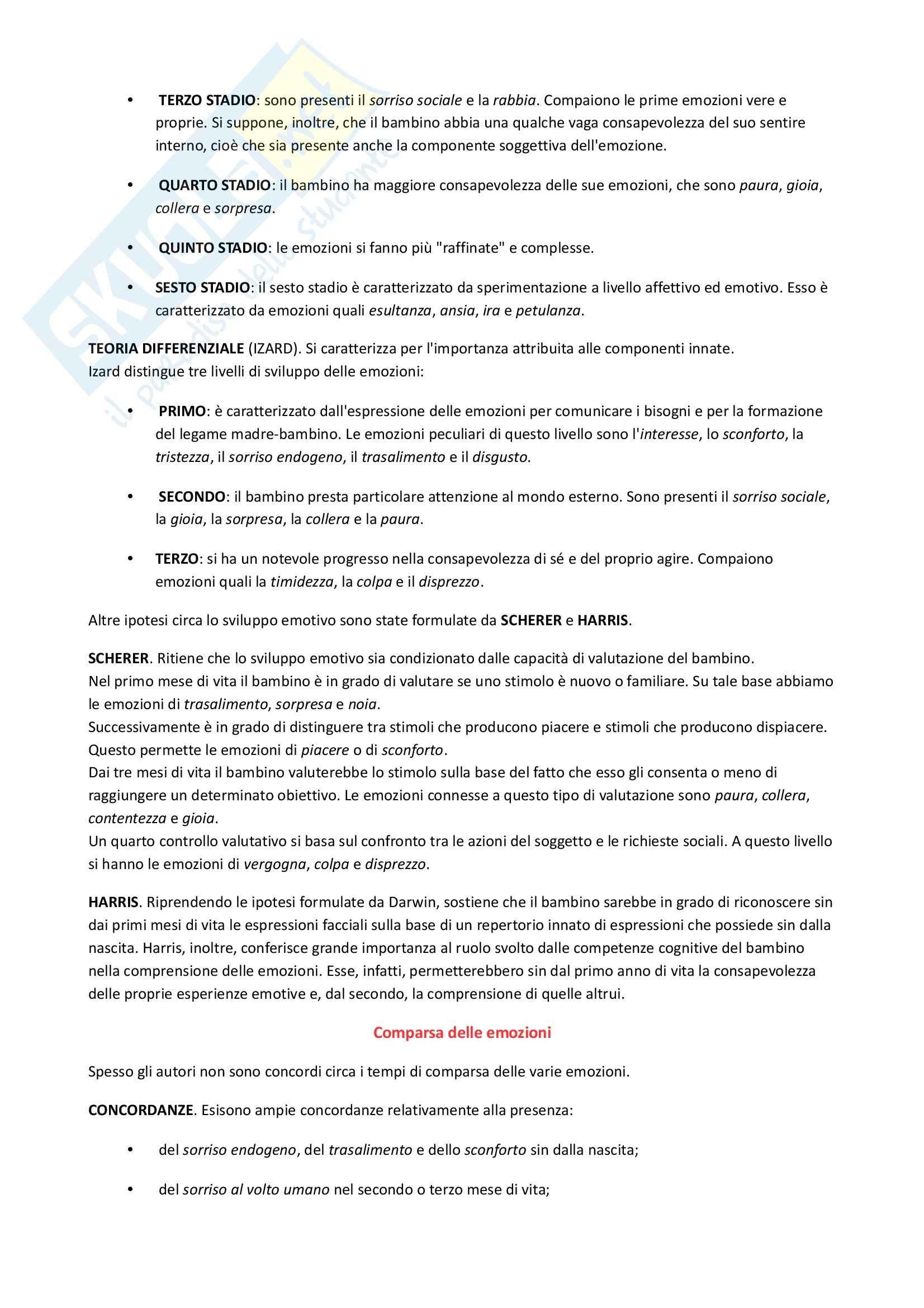 Riassunto esame Psicologia dello sviluppo, prof. De Caroli, libro consigliato Manuale di Psicologia dello sviluppo, Vianello Pag. 31