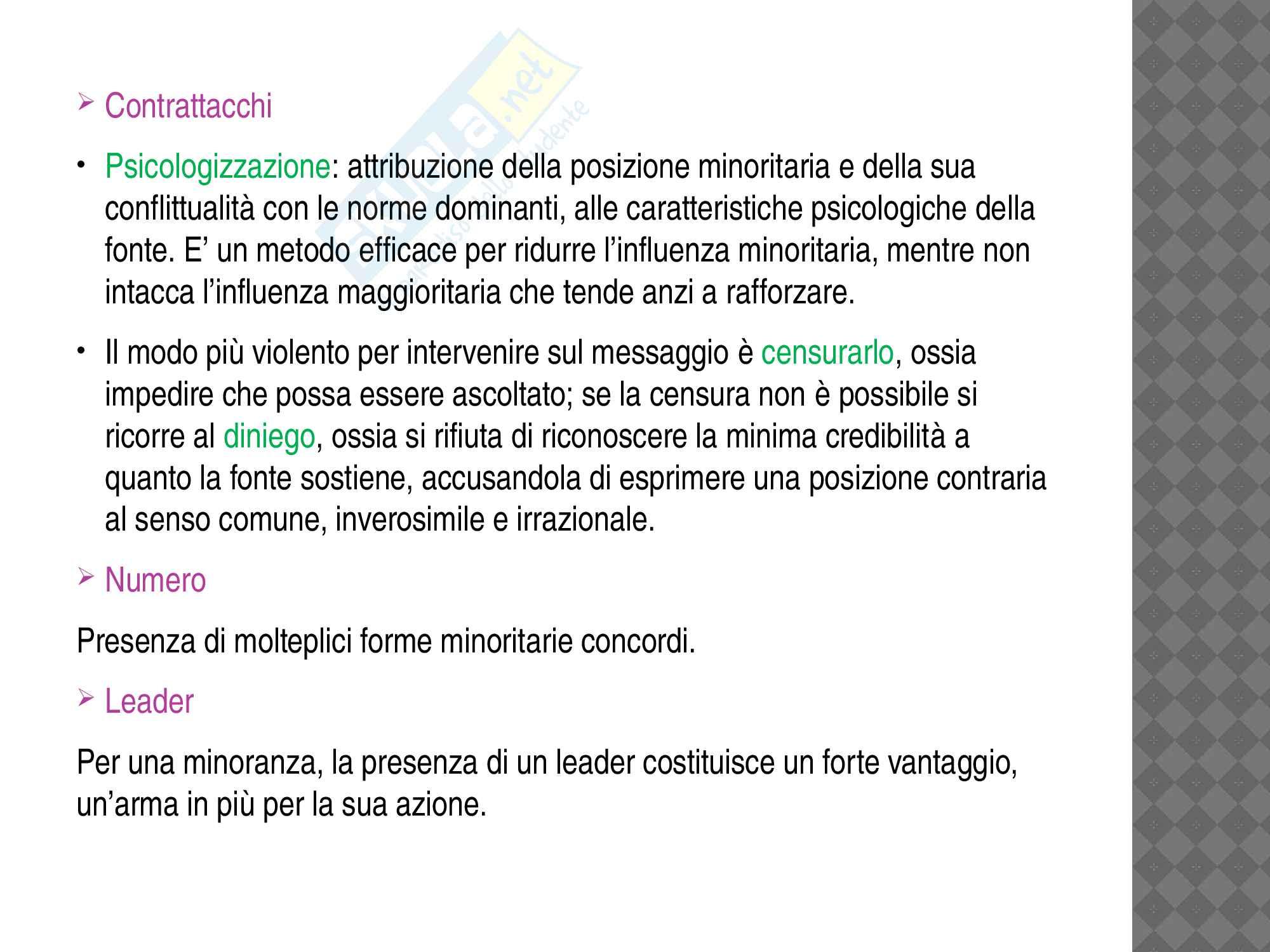 """Riassunto esame influenza sociale, prof Aquino, libro consigliato """"L'influenza sociale"""" di Angelica Mucchi Faina, Maria Giuseppina Pacilli, Stefano Pagliaro Pag. 51"""