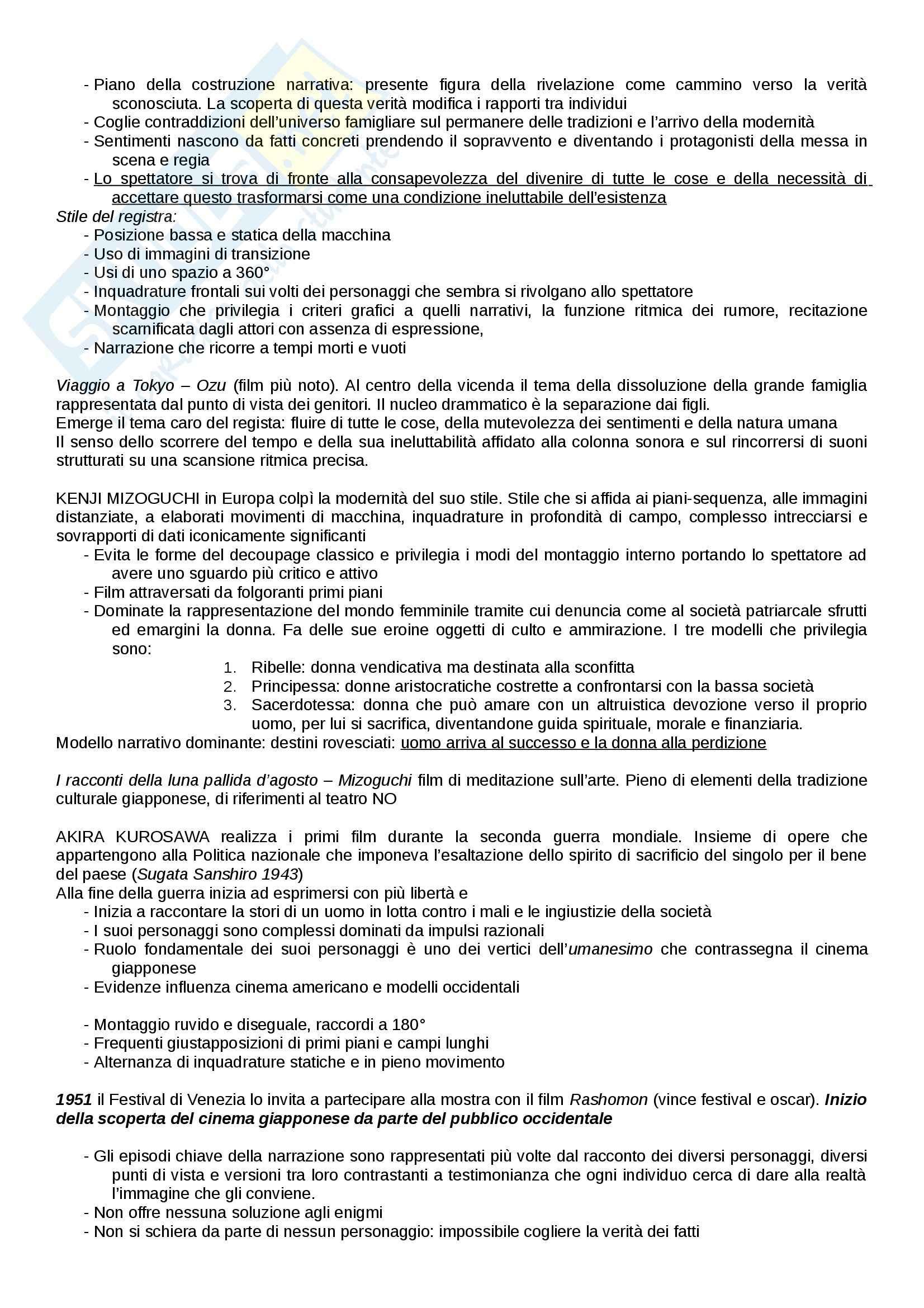 Riassunto esame Cinema, libro adottato Introduzione alla storia del cinema, Bertetto Pag. 31
