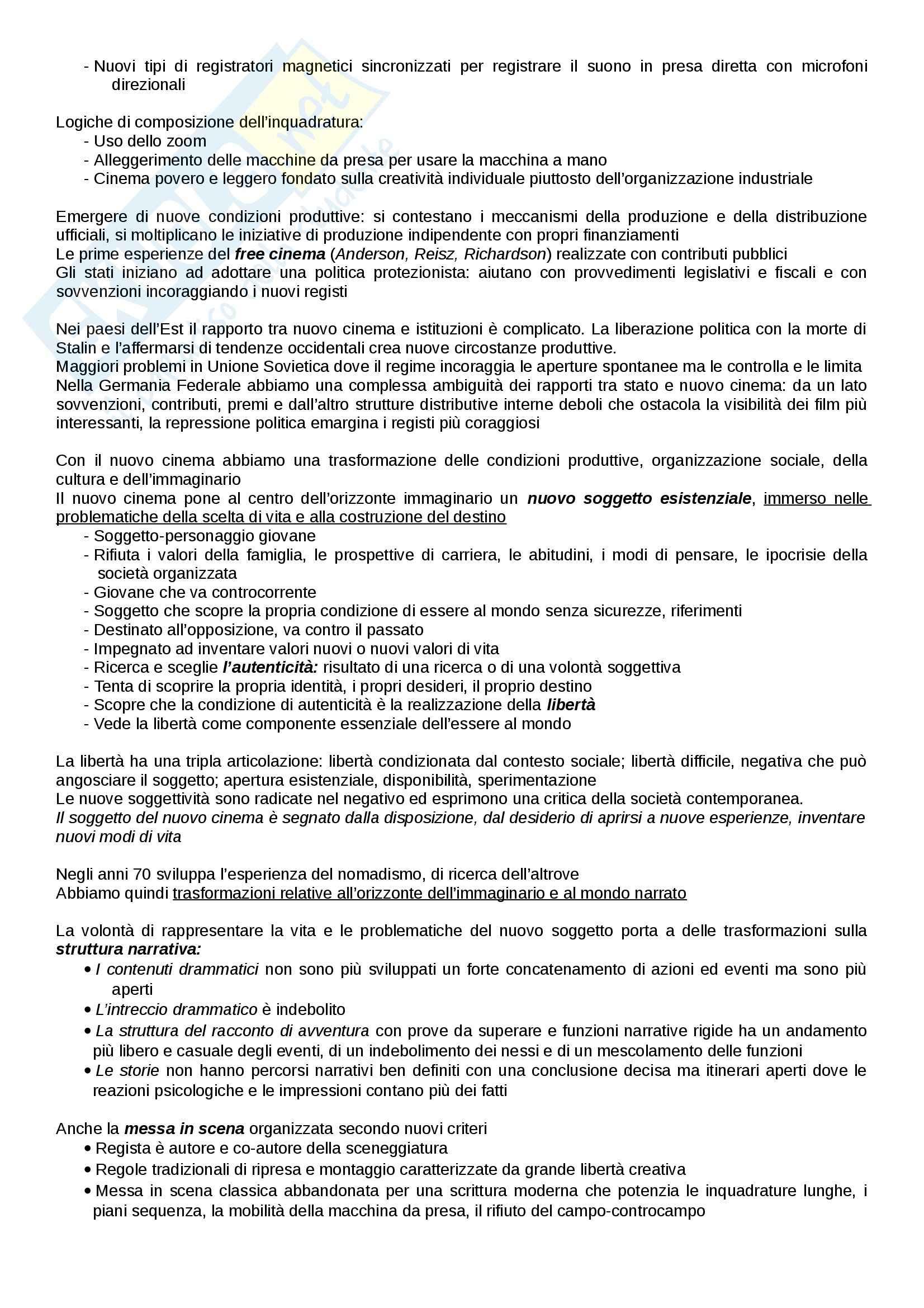 Riassunto esame Cinema, libro adottato Introduzione alla storia del cinema, Bertetto Pag. 36