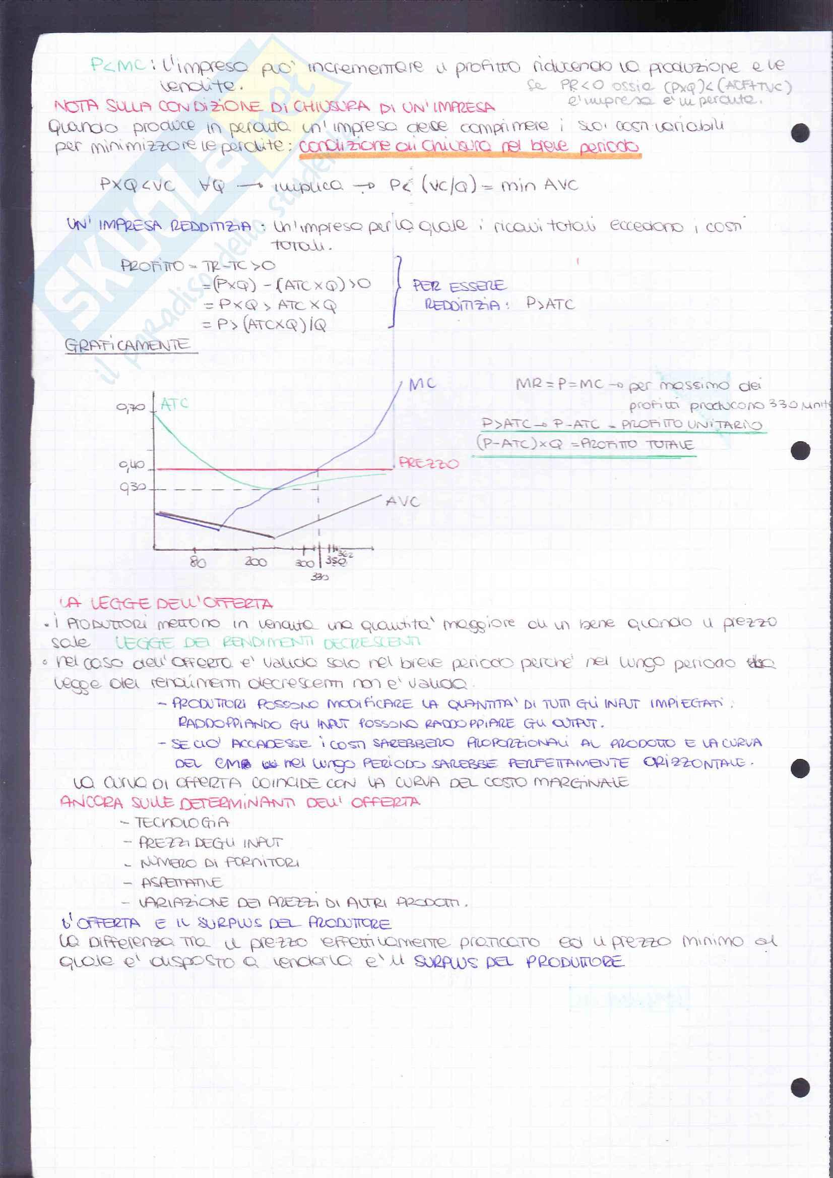 Riassunto esame Elementi di Economia-Microeconomia, prof. Resmini, libro consigliato Principi di economia 4/ed, Robert H. Frank, Ben S. Bernanke, Moore McDowell, Rodney Thom e Ivan Pastine Pag. 41
