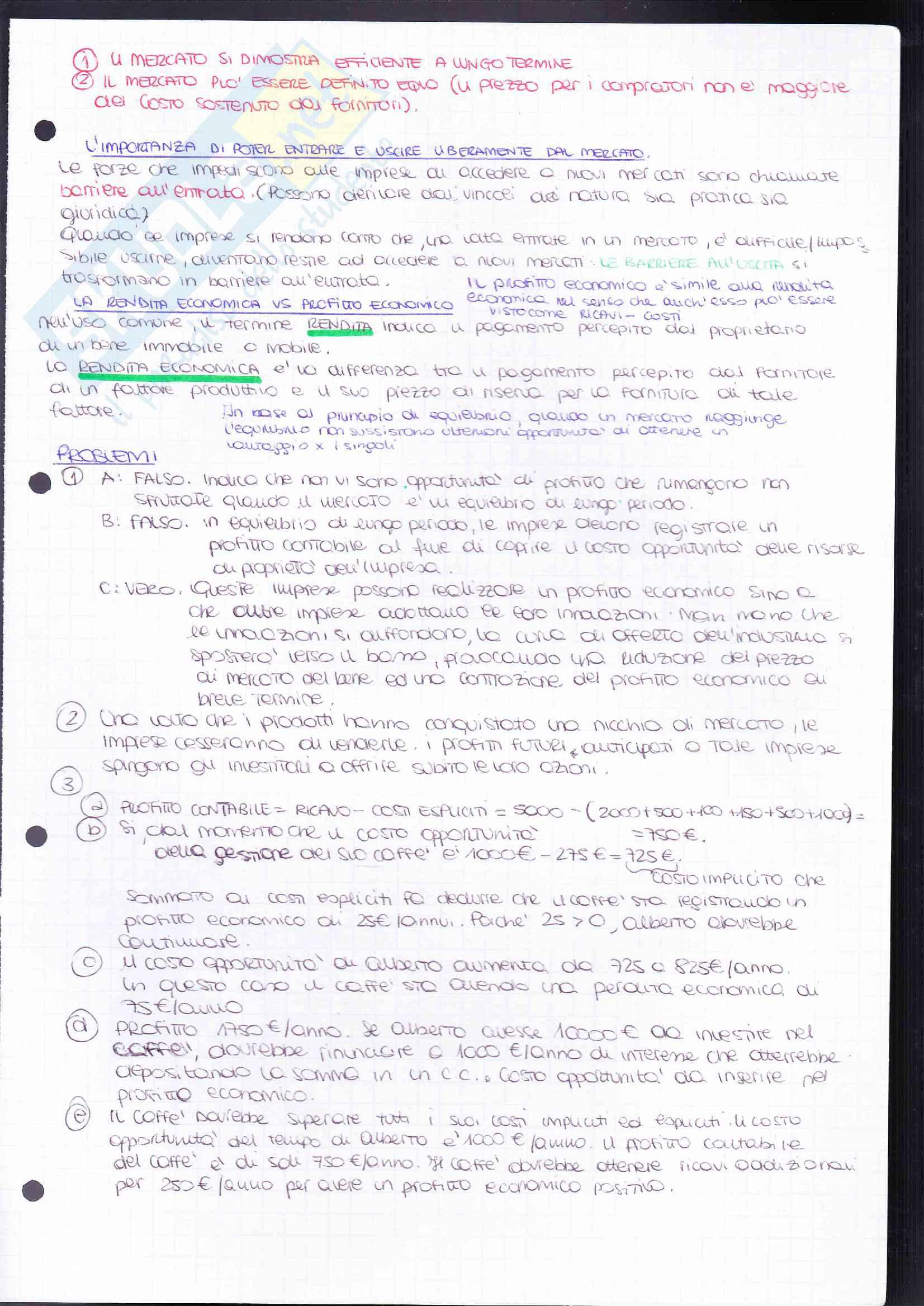Riassunto esame Elementi di Economia-Microeconomia, prof. Resmini, libro consigliato Principi di economia 4/ed, Robert H. Frank, Ben S. Bernanke, Moore McDowell, Rodney Thom e Ivan Pastine Pag. 51