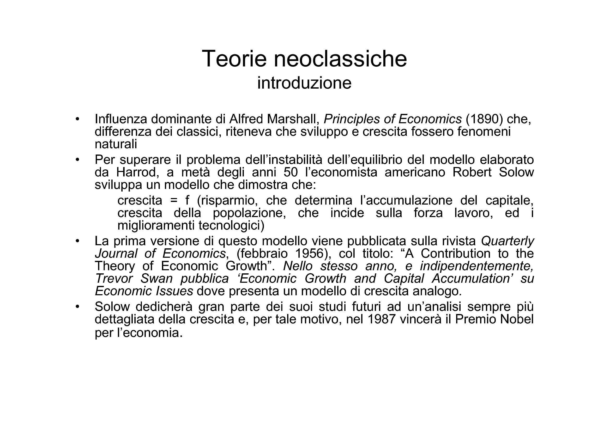 Teorie neo-classiche