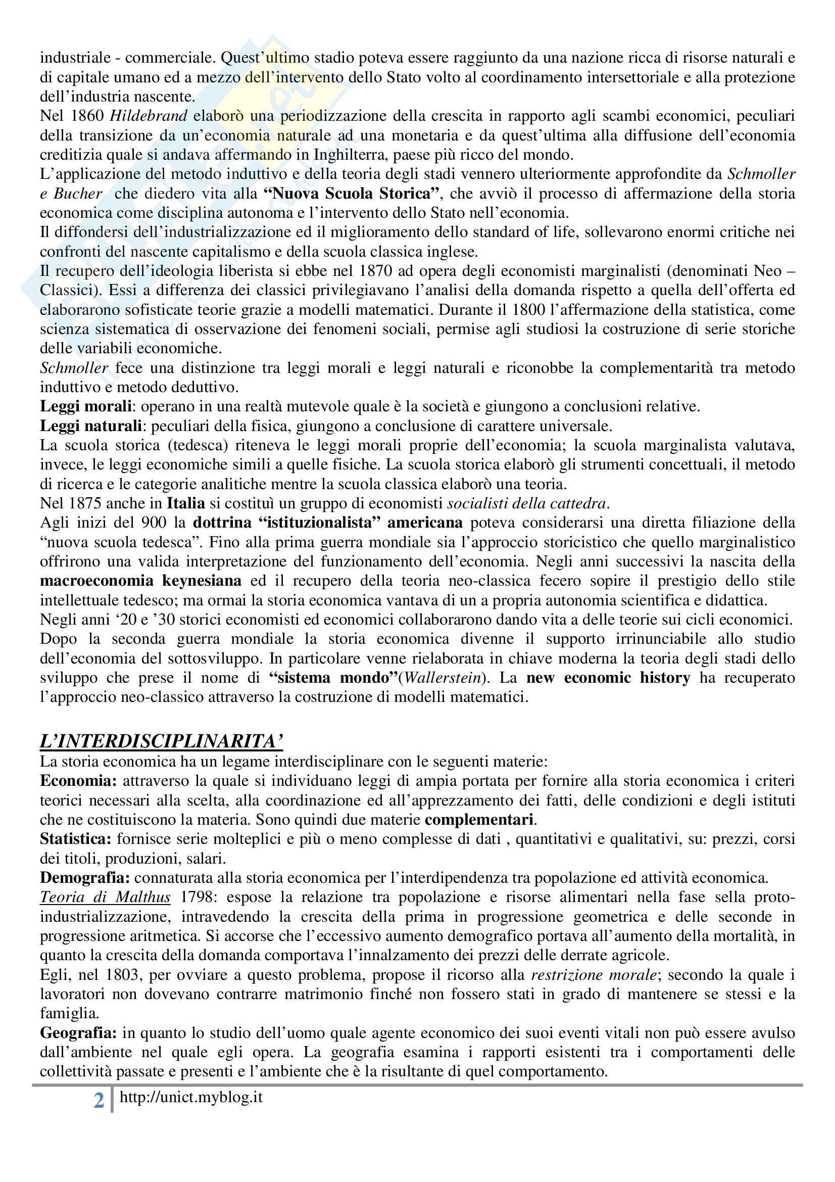 Storia dell'economia mondiale, Assante, Cipolla, Romano - Appunti Pag. 2