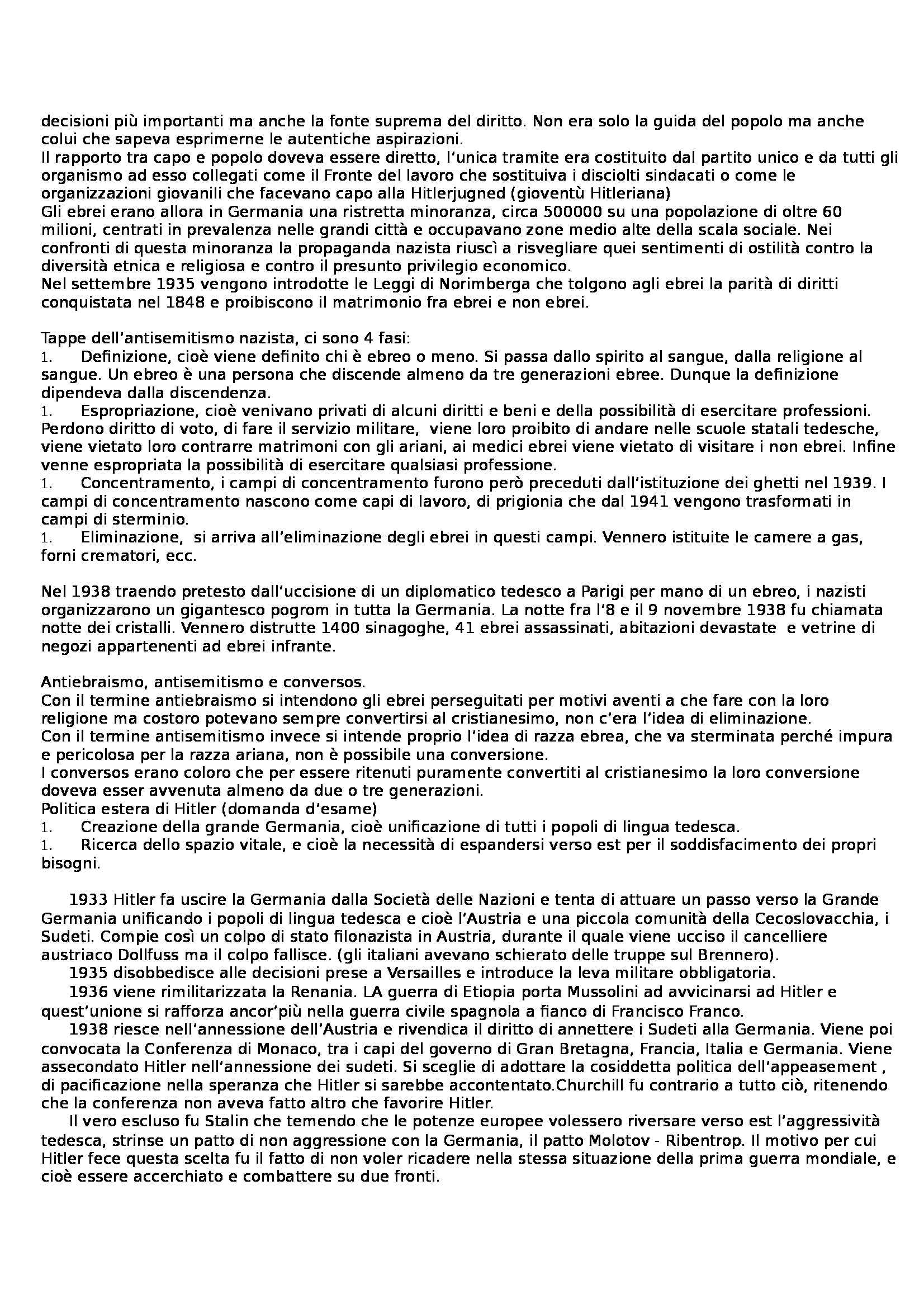 Riassunto esame Storia contemporanea, prof. Ceci Pag. 16