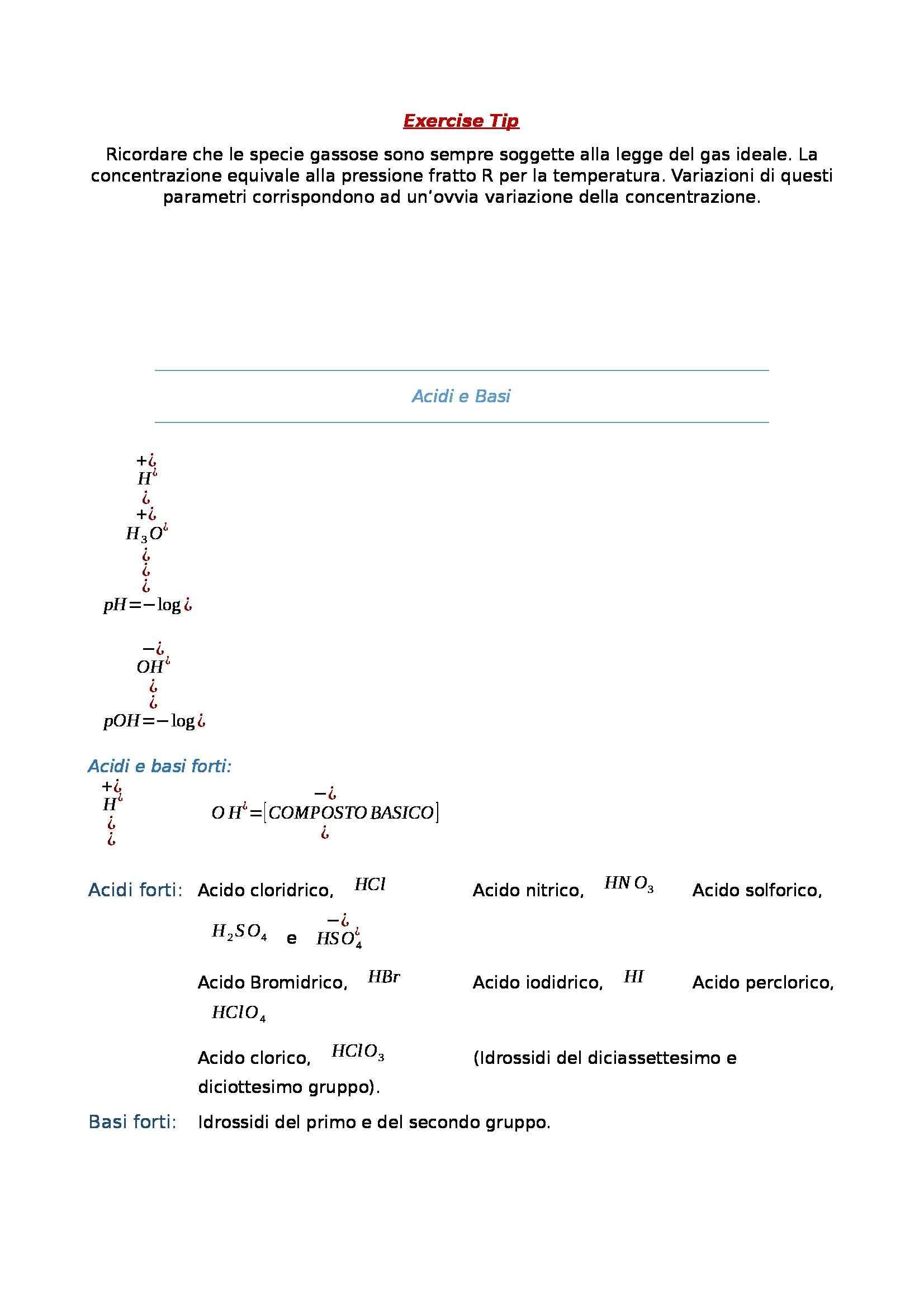 Chimica generale e inorganica - formulario Pag. 2
