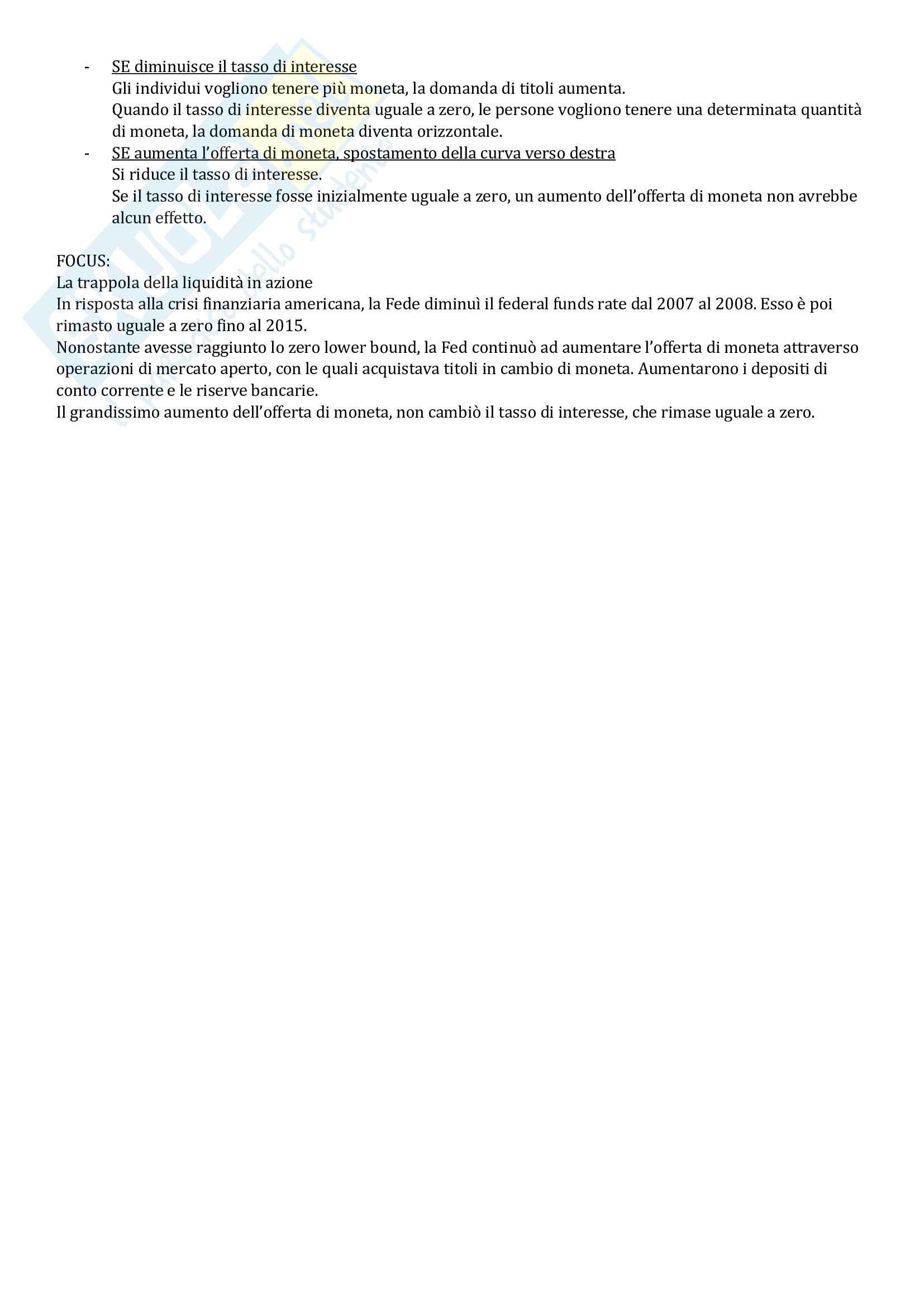 Riassunto esame Introduzione alla macroeconomia, prof. Strozzi, libro consigliato Macroeconomia. Una prospettiva europea, Blanchard, Amighini, Giavazzi Pag. 16