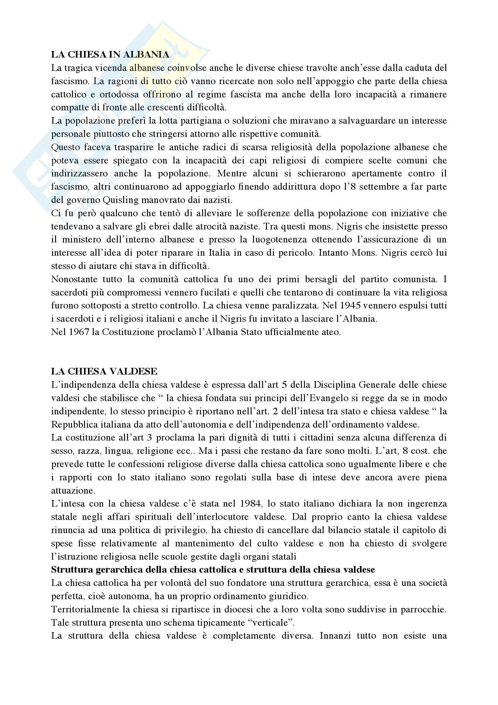 Riassunto esame Diritto Canonico, prof. De Gregorio, libro consigliato Argomenti di storia e diritto canonico