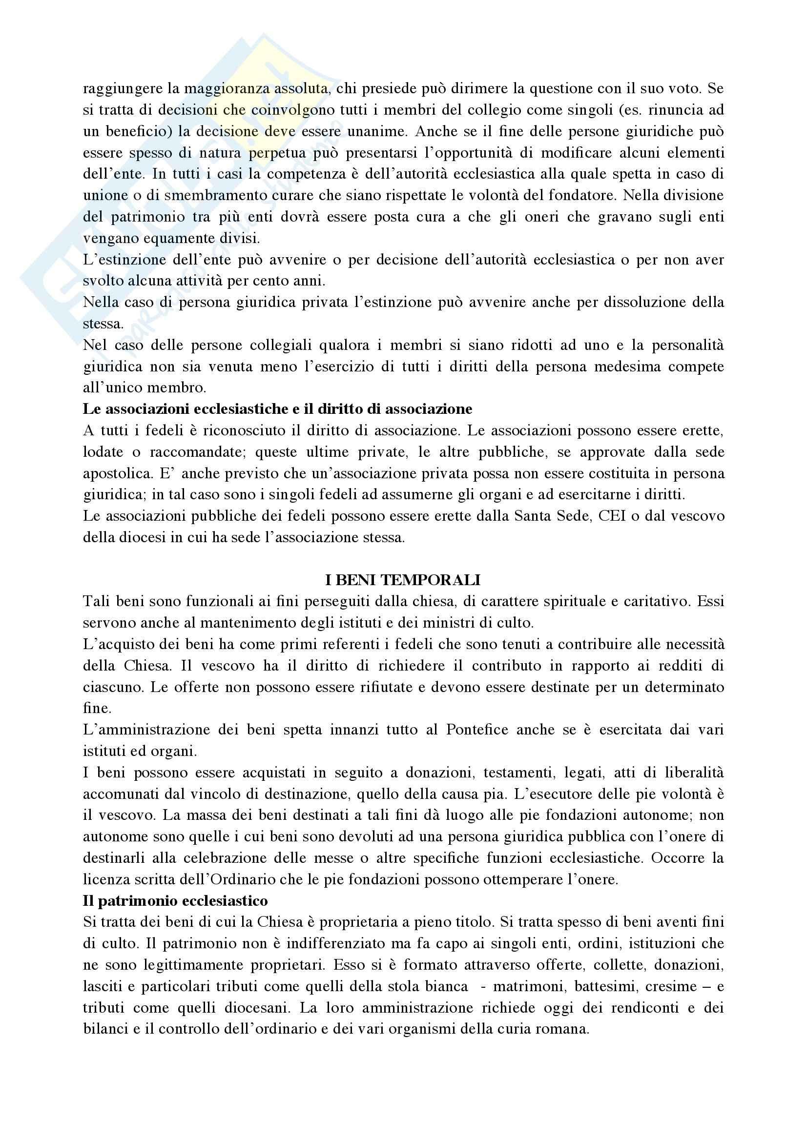 Riassunto esame Diritto Canonico, prof. De Gregorio, libro consigliato Argomenti di storia e diritto canonico Pag. 11