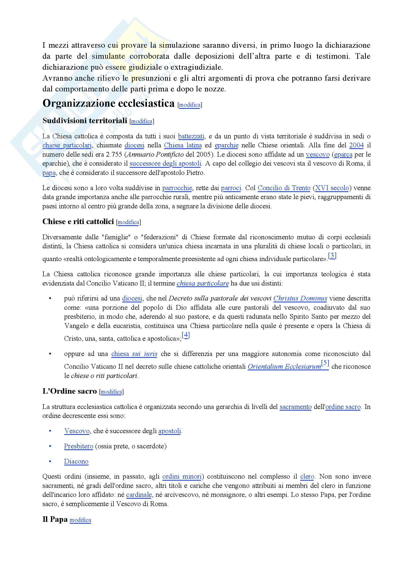 Riassunto esame Diritto Canonico, prof. De Gregorio, libro consigliato Argomenti di storia e diritto canonico Pag. 26