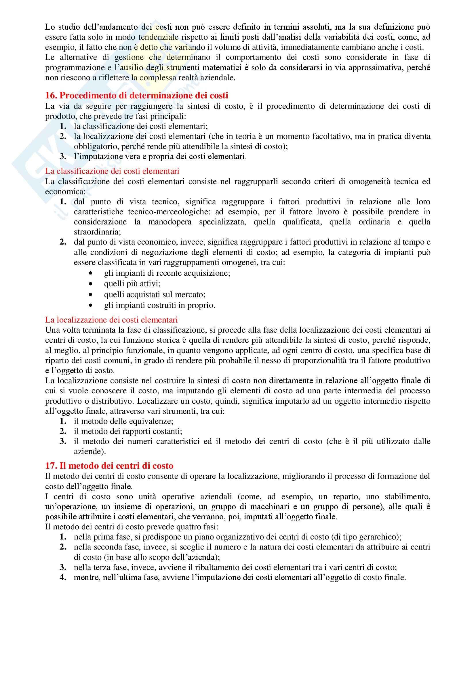 Contabilità generale e analitica - Riassunto esame tutto il programma, prof. Verdini Pag. 21
