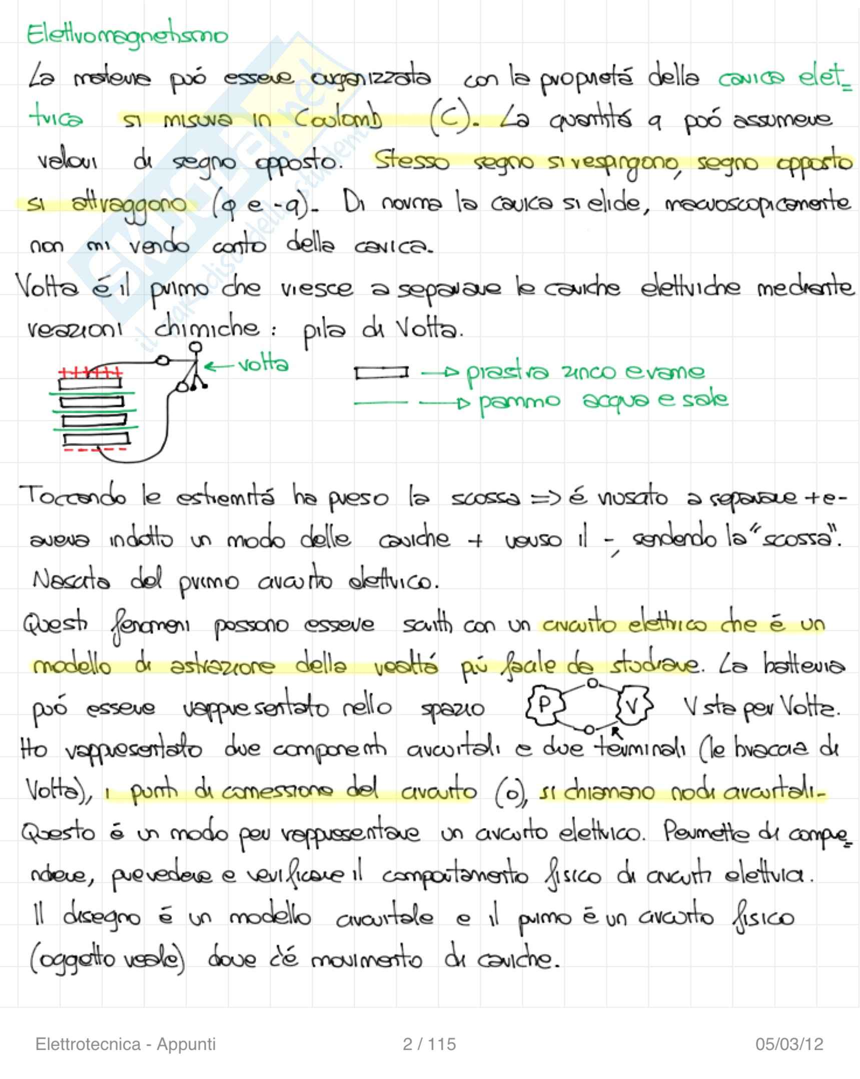 Elettrotecnica - Appunti Pag. 2