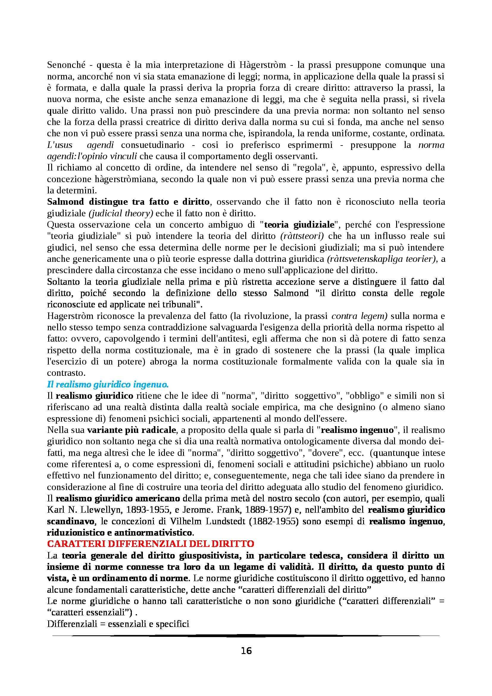 Riassunto esame Filosofia del Diritto, prof. Rotolo, libro consigliato Temi e Problemi di Filosofia del Diritto, Pattaro Pag. 16