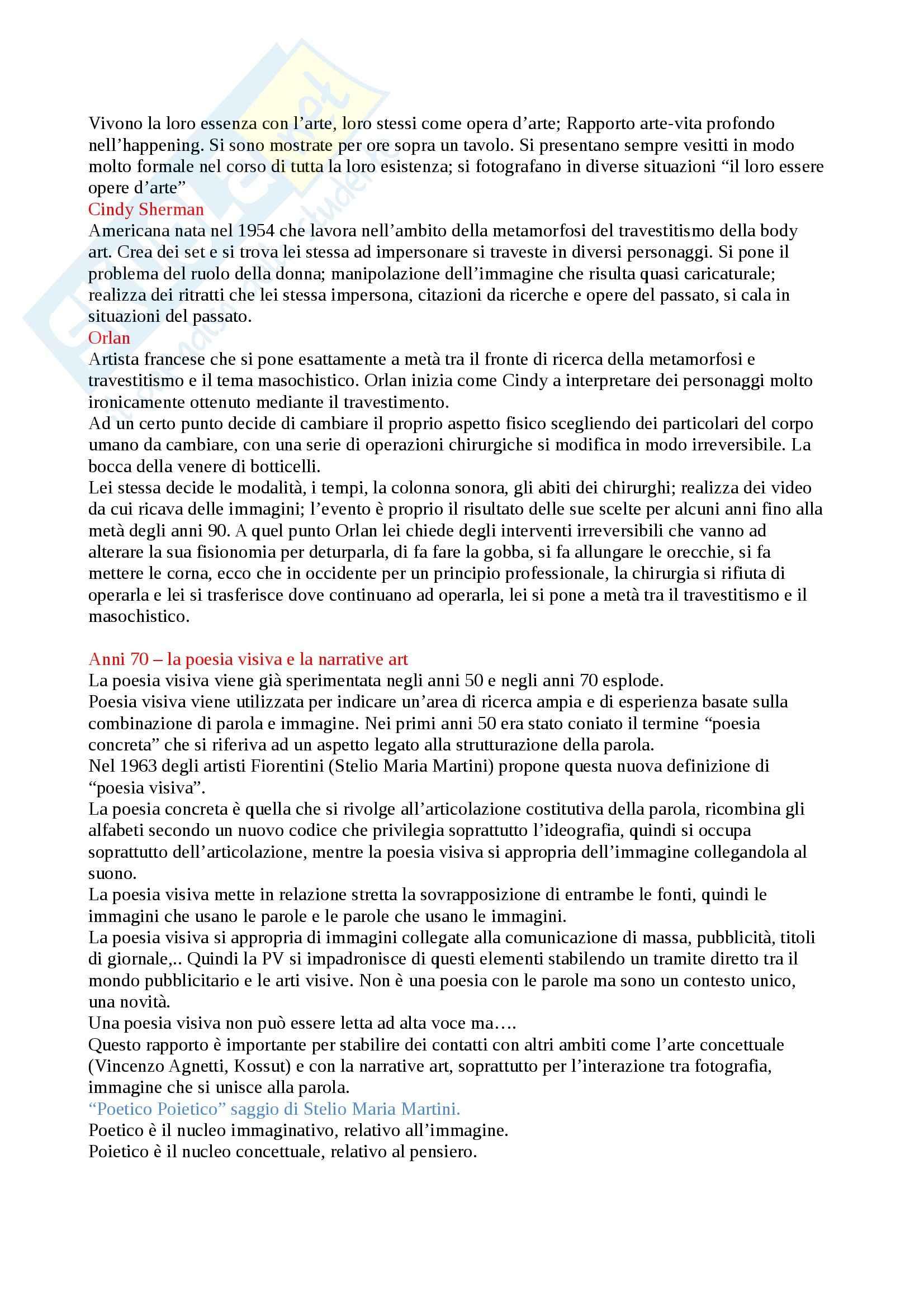 Storia dell'Arte Contemporanea - Appunti Pag. 21