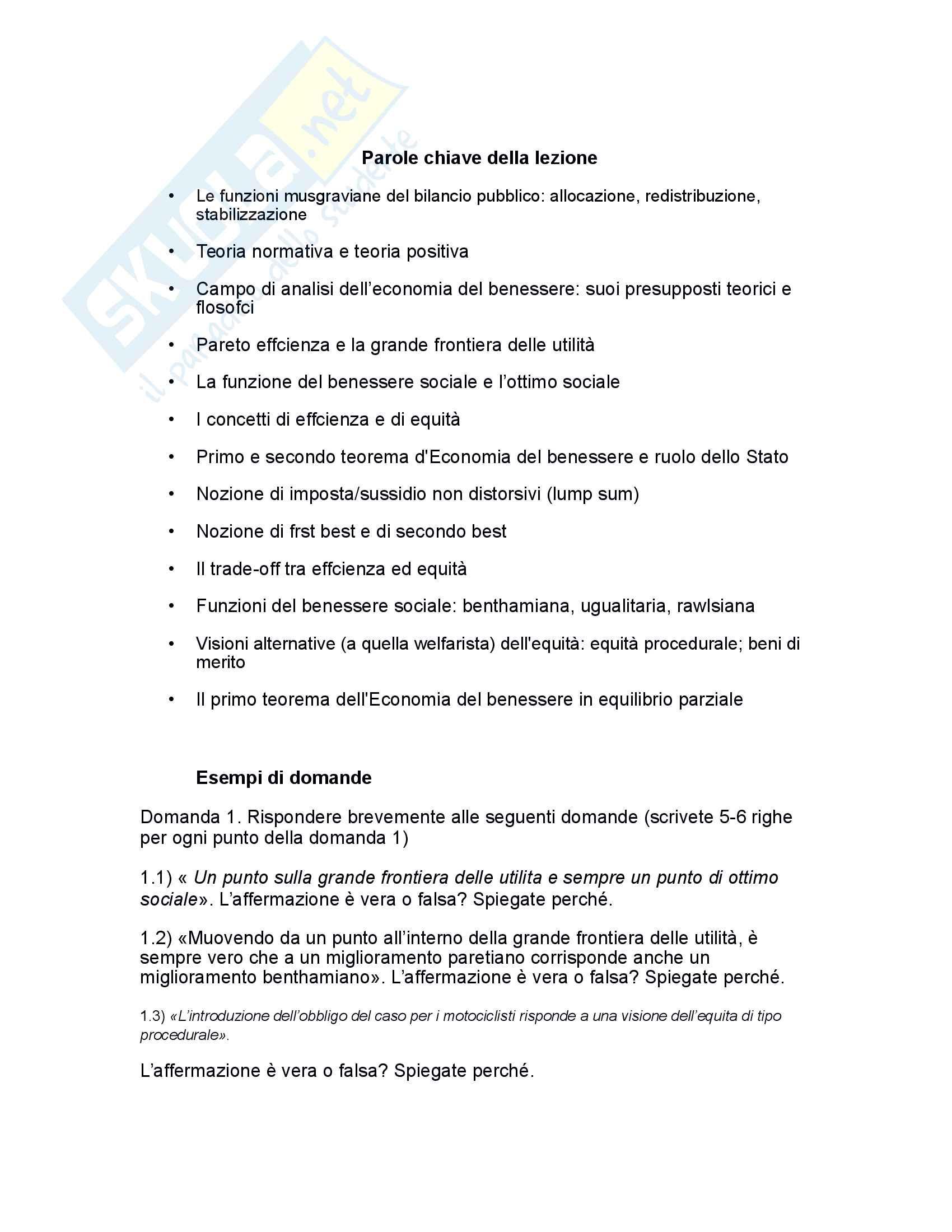 Riassunto esame scienza delle finanze, prof Baldini, libro consigliato Corso di Scienza delle finanze di P .Bosi Pag. 16