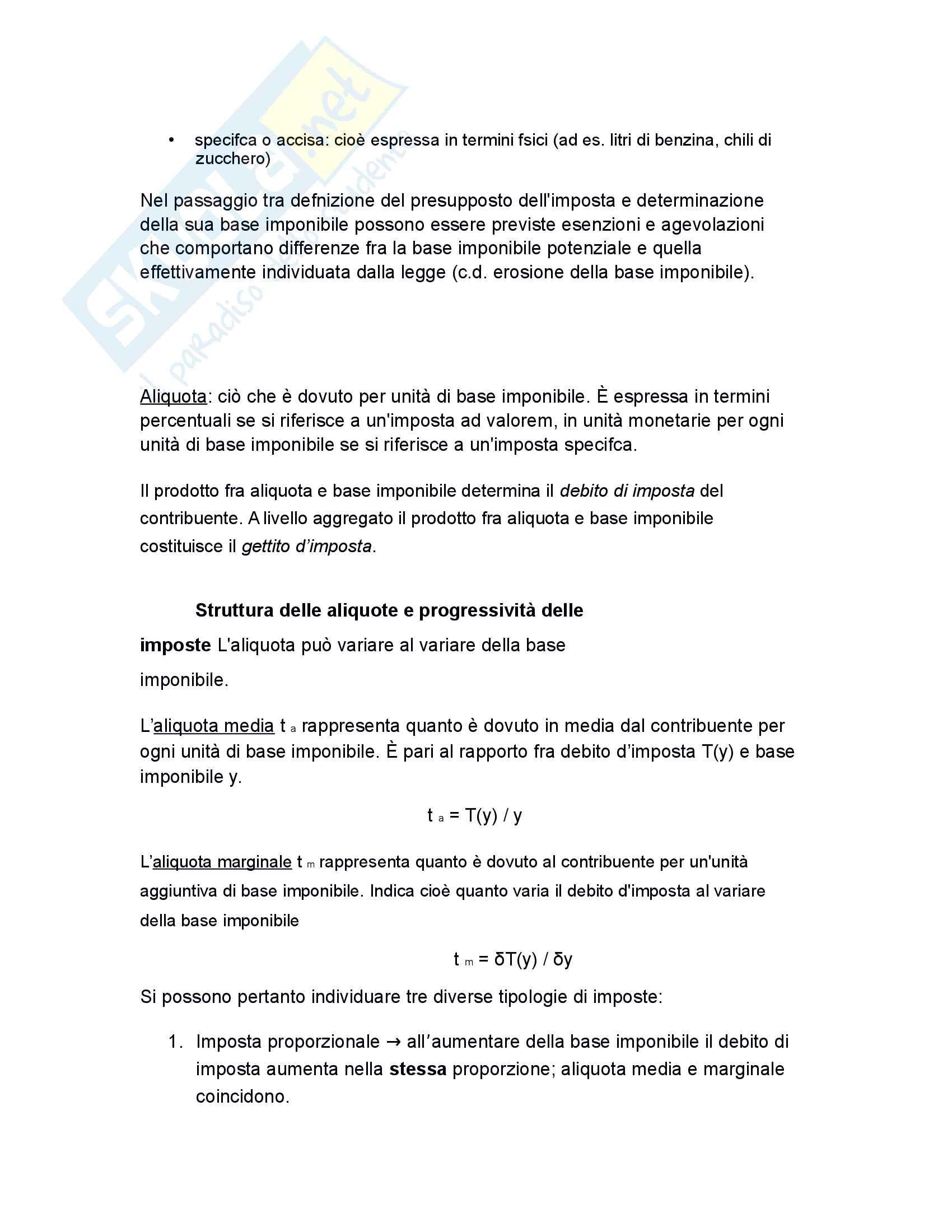 Riassunto esame scienza delle finanze, prof Baldini, libro consigliato Corso di Scienza delle finanze di P .Bosi Pag. 36