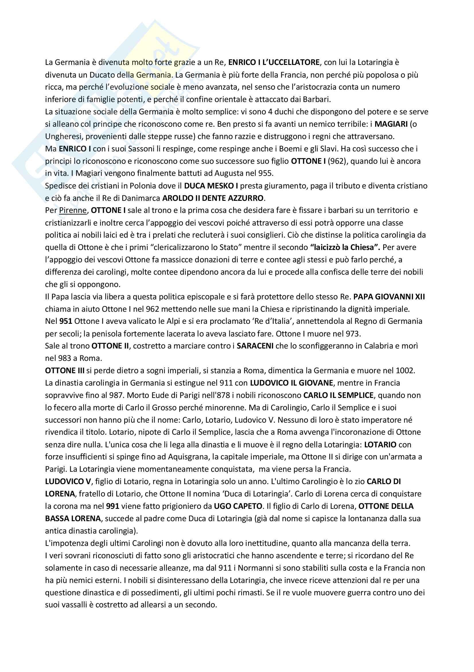 Riassunto esame Storia medievale, Prof.ssa Barone, libro consigliato Storia d'Europa dalle invasioni barbariche al XVI secolo, Henri Pirenne Pag. 16