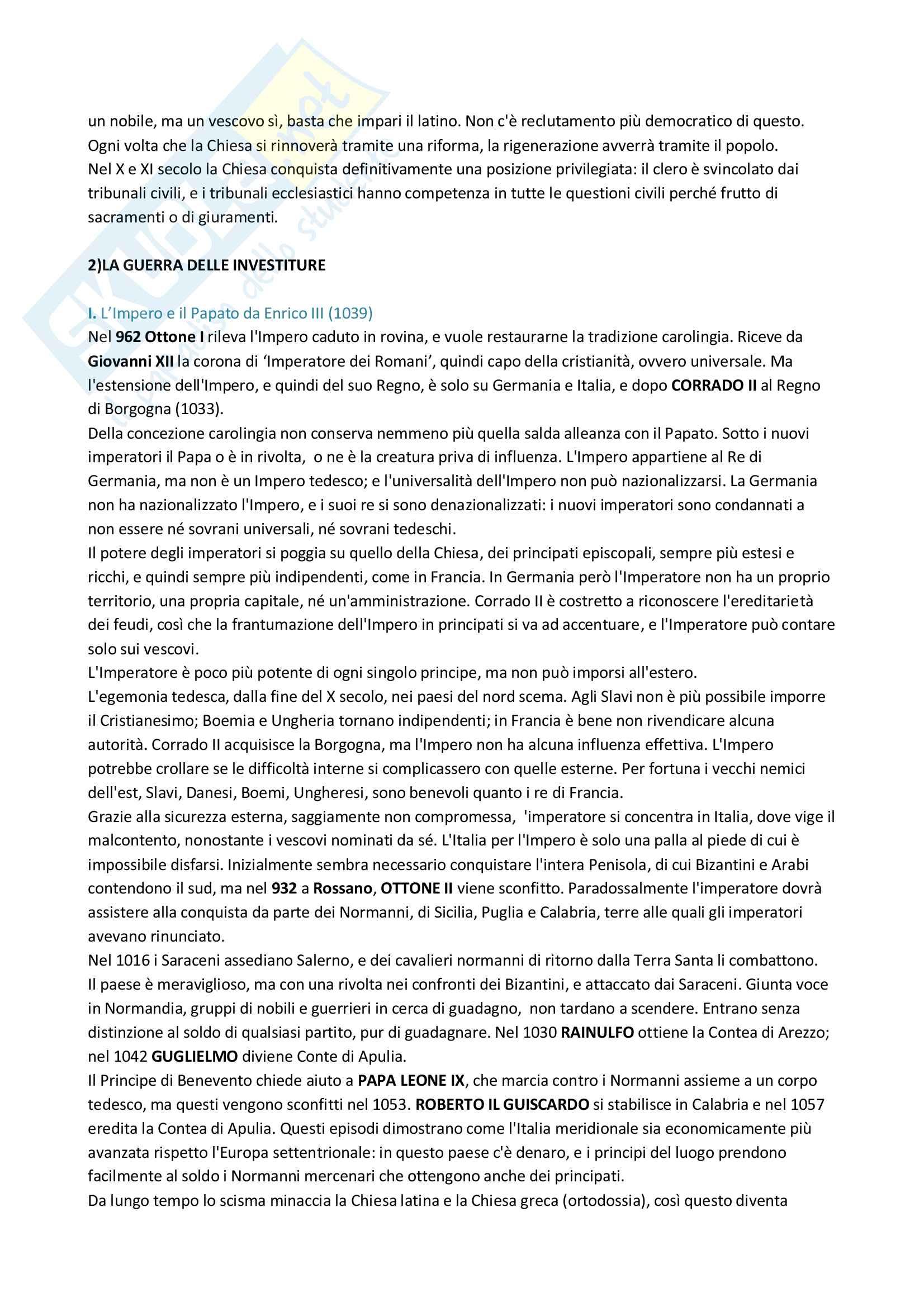 Riassunto esame Storia medievale, Prof.ssa Barone, libro consigliato Storia d'Europa dalle invasioni barbariche al XVI secolo, Henri Pirenne Pag. 21