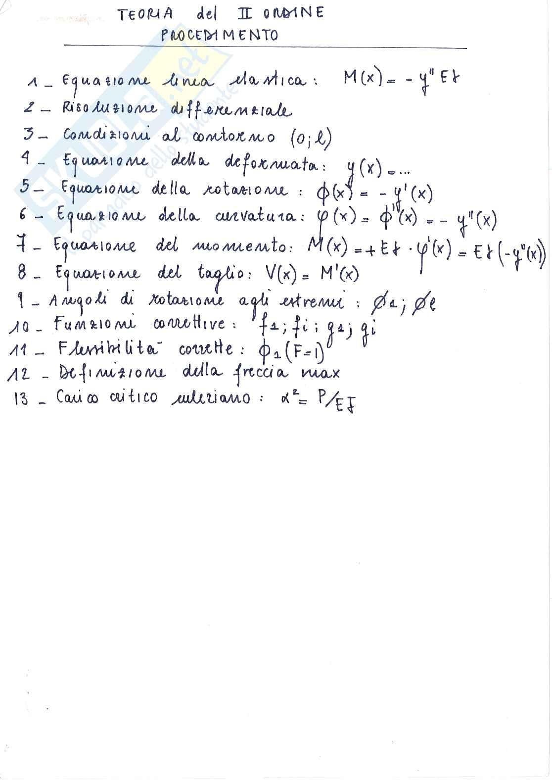 Appunti tecnica delle costruzioni 2 - Teoria del 2° ordine Pag. 1