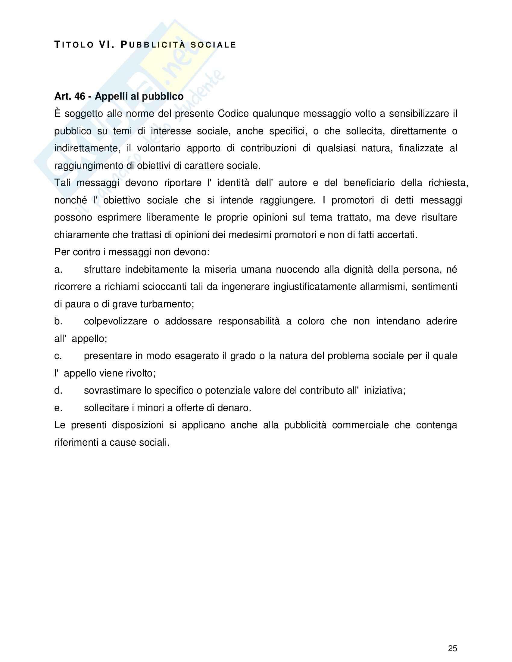 Tecnica della comunicazione pubblicitaria - la disciplina della pubblicità Pag. 26