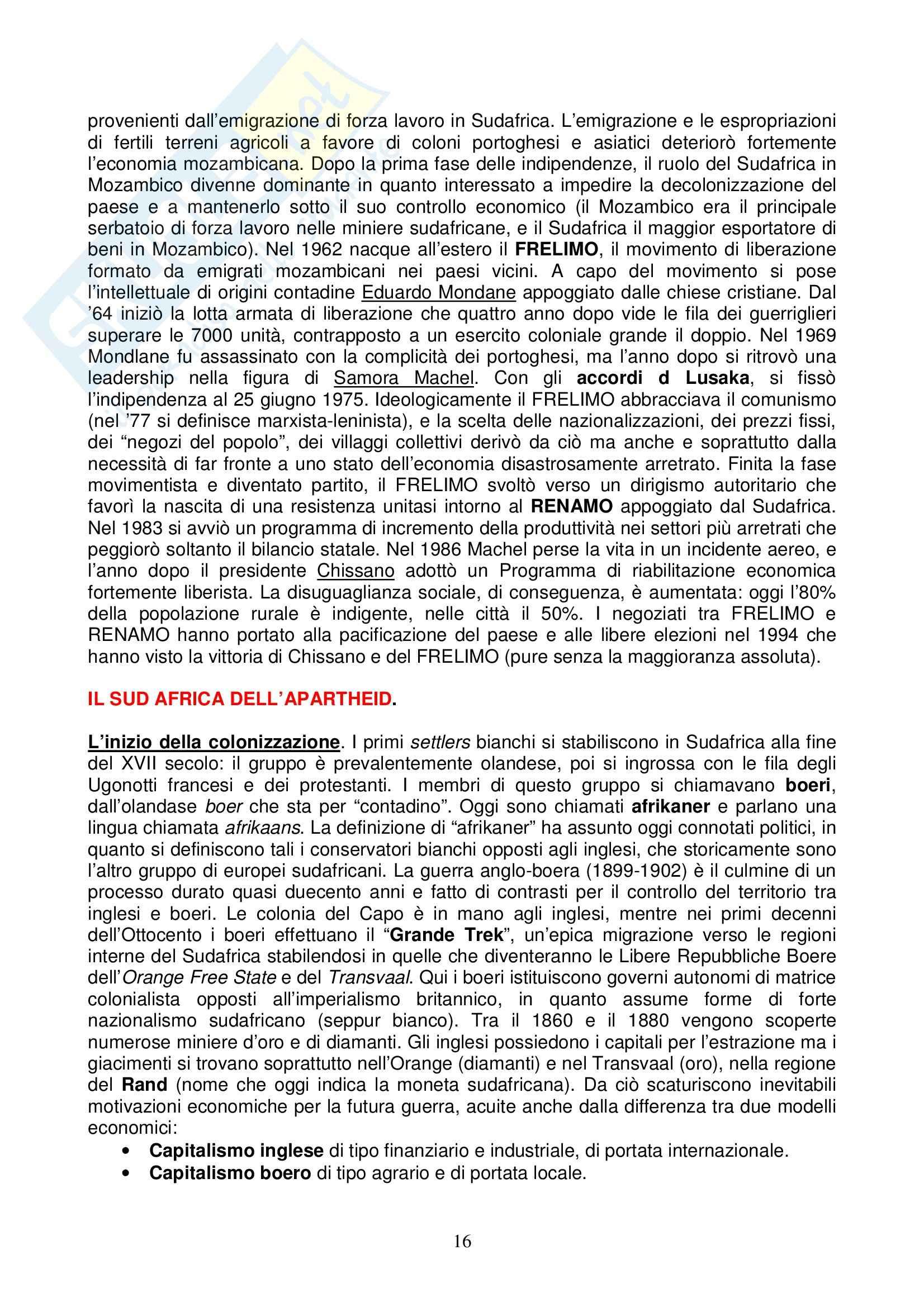 Riassunto esame Storia dell'Africa prof. Gentili, libro consigliato Il Leone e il Cacciatore Pag. 16