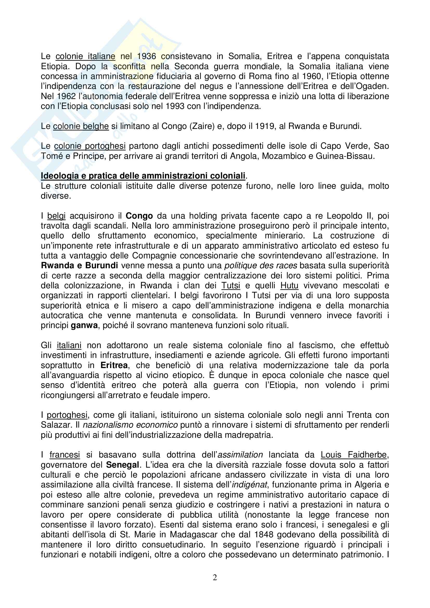 Riassunto esame Storia dell'Africa prof. Gentili, libro consigliato Il Leone e il Cacciatore Pag. 2