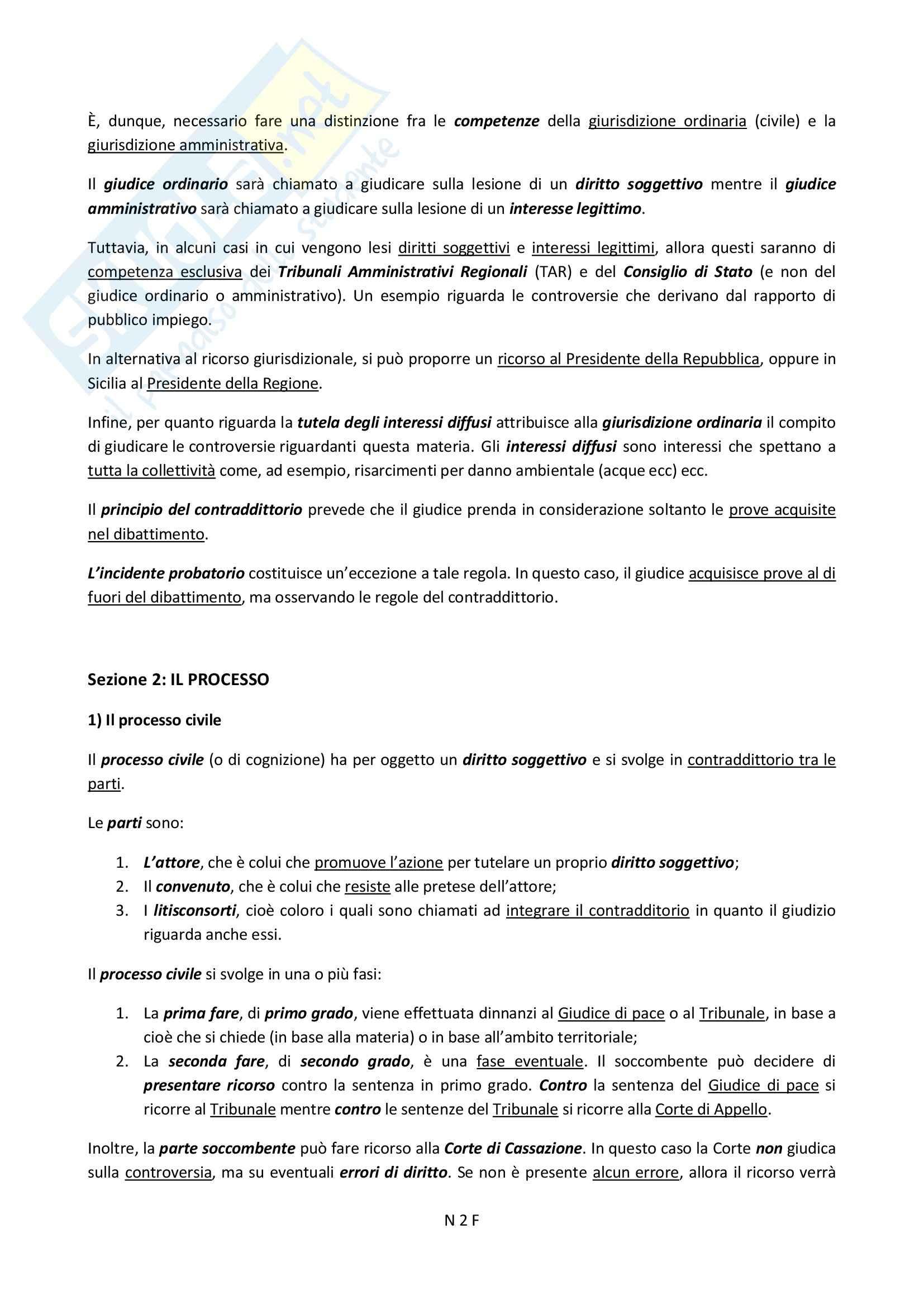 Funzione Giurisdizionale e nozioni, Diritto pubblico Pag. 2