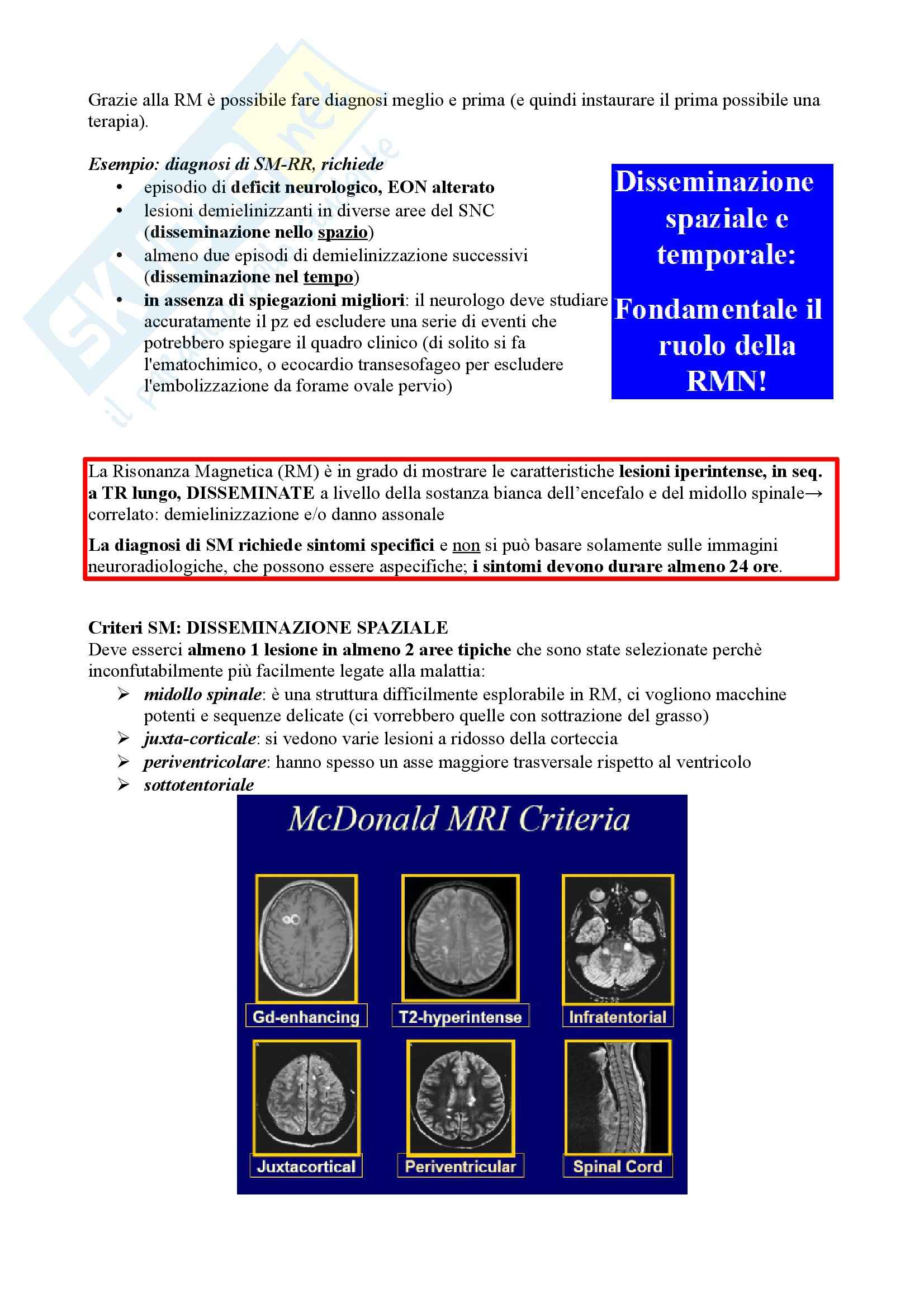 Riassunto esame Neurologia, prof. Pinessi, libro consigliato Il Bergamini di Neurologia, Bergamini: Sclerosi multipla Pag. 11