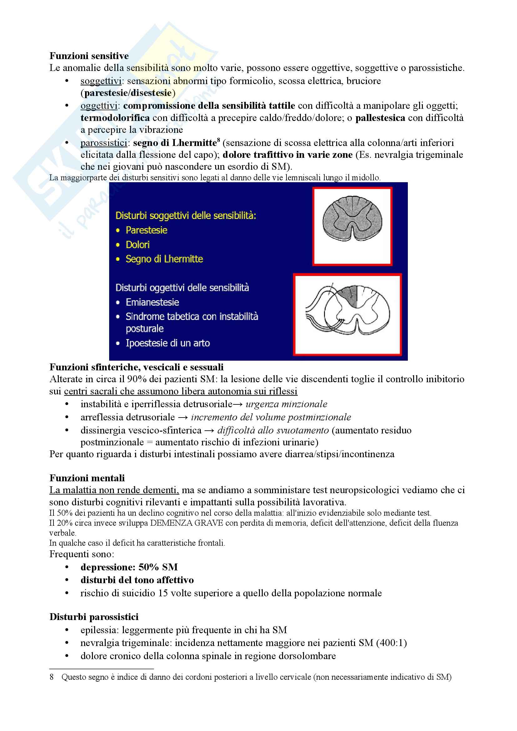 Riassunto esame Neurologia, prof. Pinessi, libro consigliato Il Bergamini di Neurologia, Bergamini: Sclerosi multipla Pag. 16