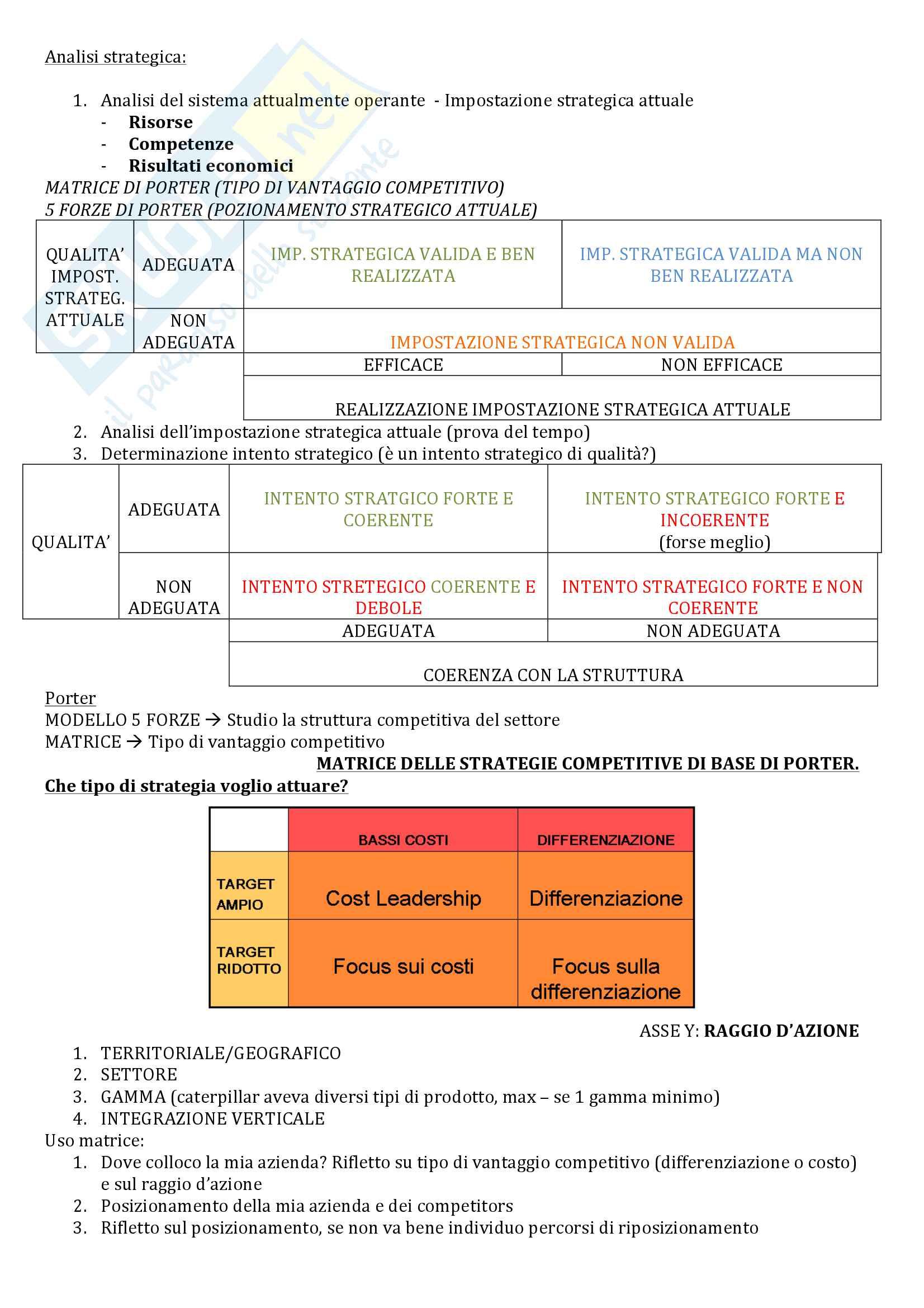 appunto S. Bianchi Martini Strategia e politica aziendale